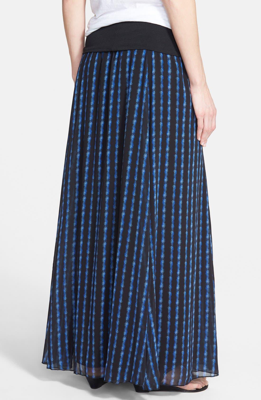 Alternate Image 2  - Max & Mia Knit Waistband Print Maxi Skirt