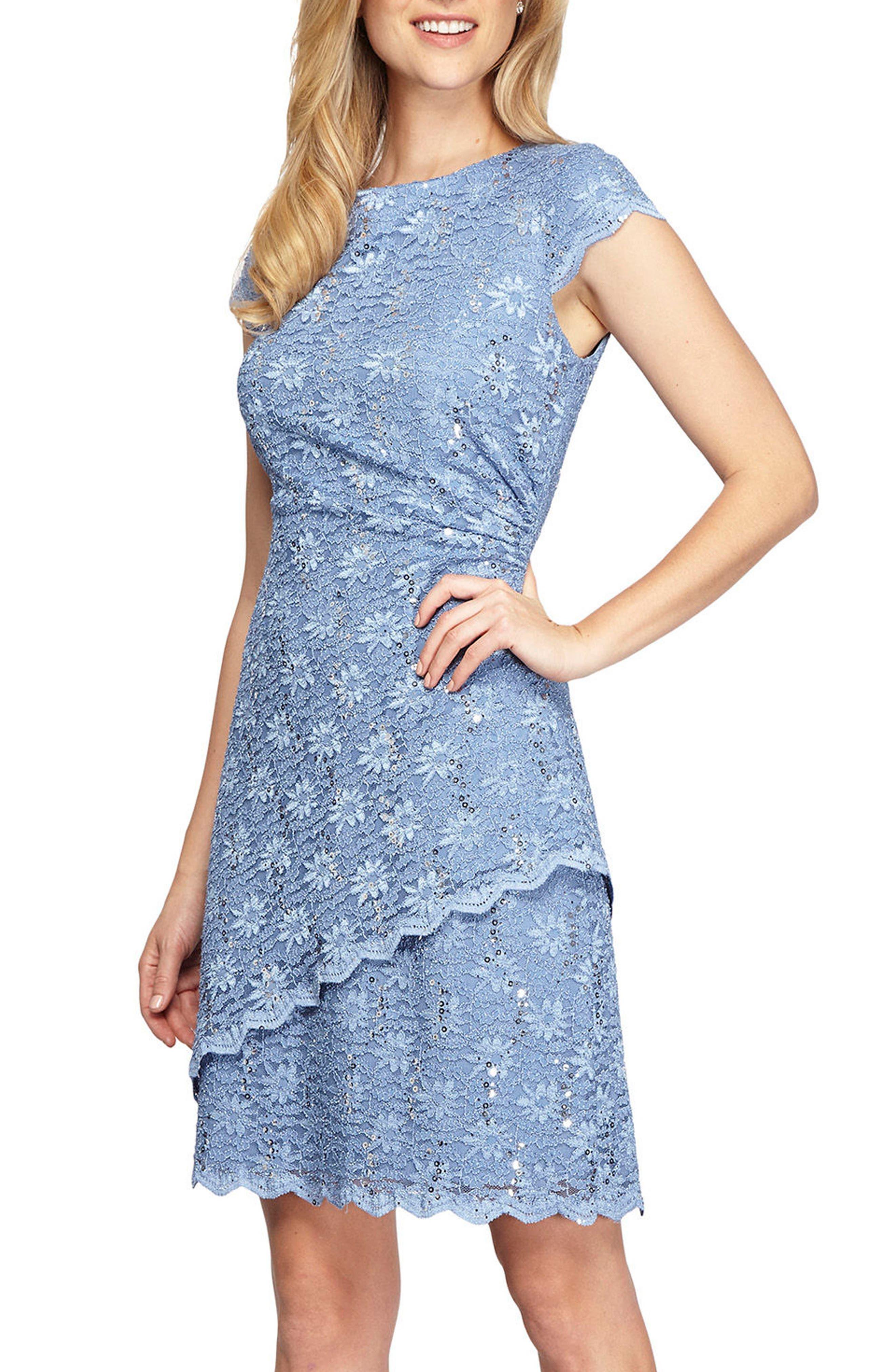 Alex Evenings Embellished Lace Sheath Dress