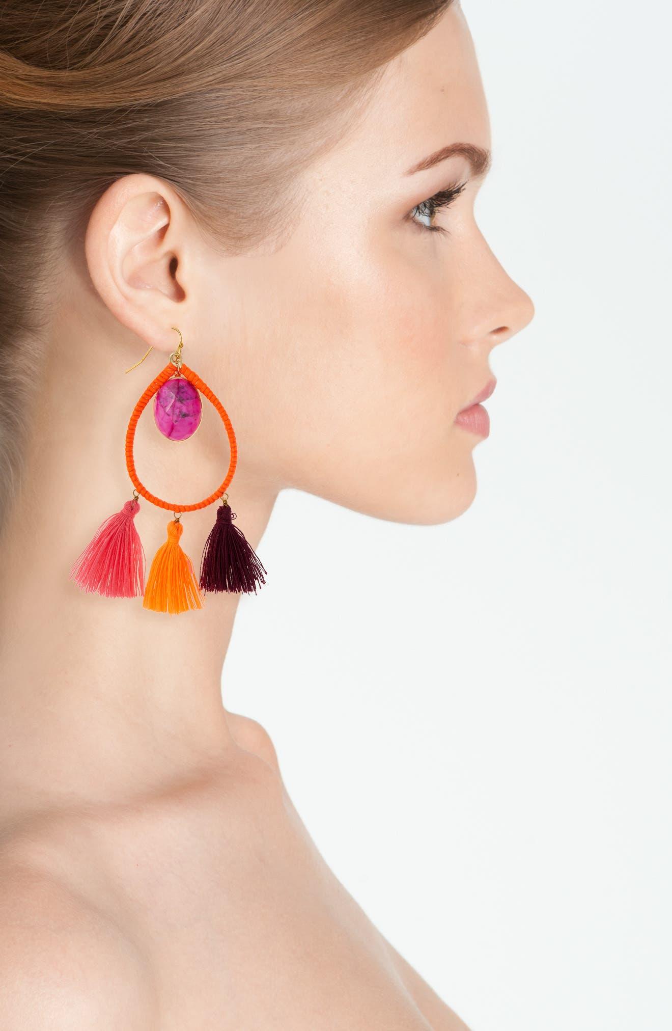 Alternate Image 2  - Panacea Stone Tassel Earrings