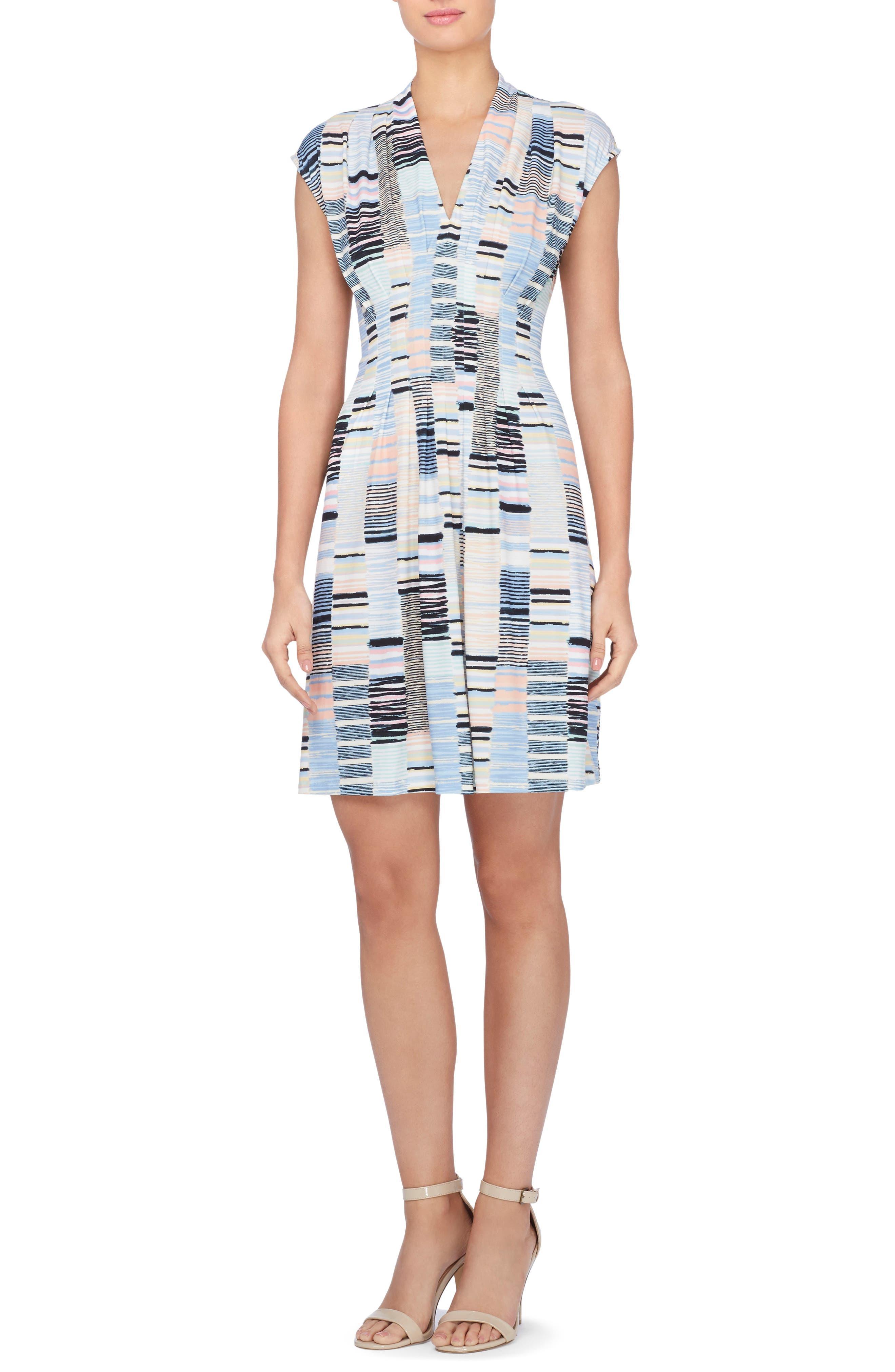Catherine Catherine Malandrino Tinka Print Jersey Fit & Flare Dress