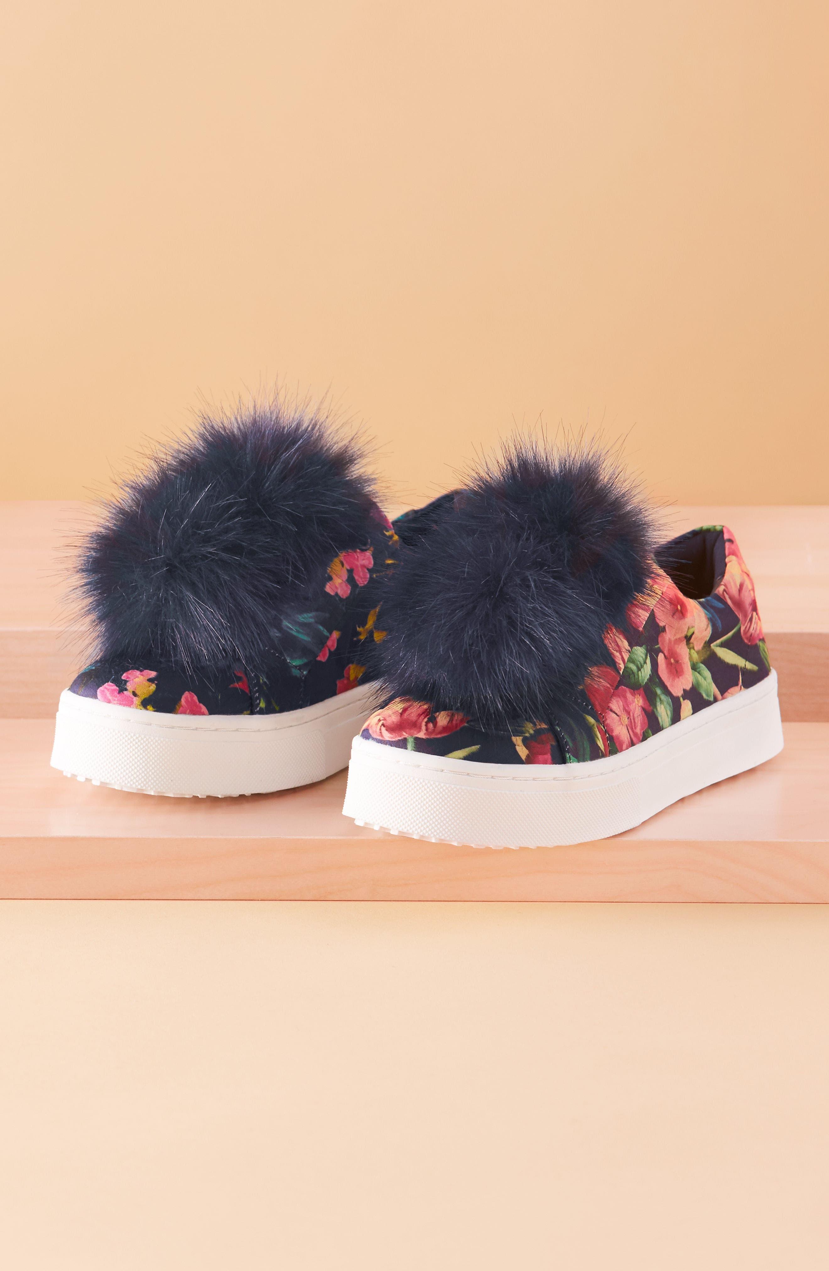 Alternate Image 7  - Sam Edelman 'Leya' Faux Fur Laceless Sneaker (Women)
