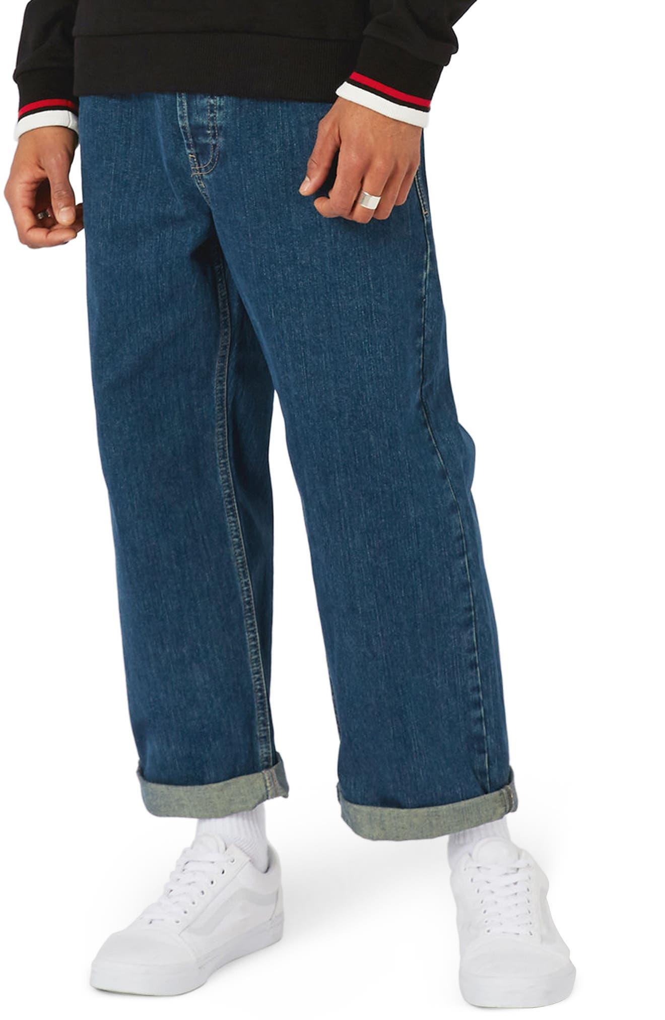Topman Crop Wide Leg Jeans