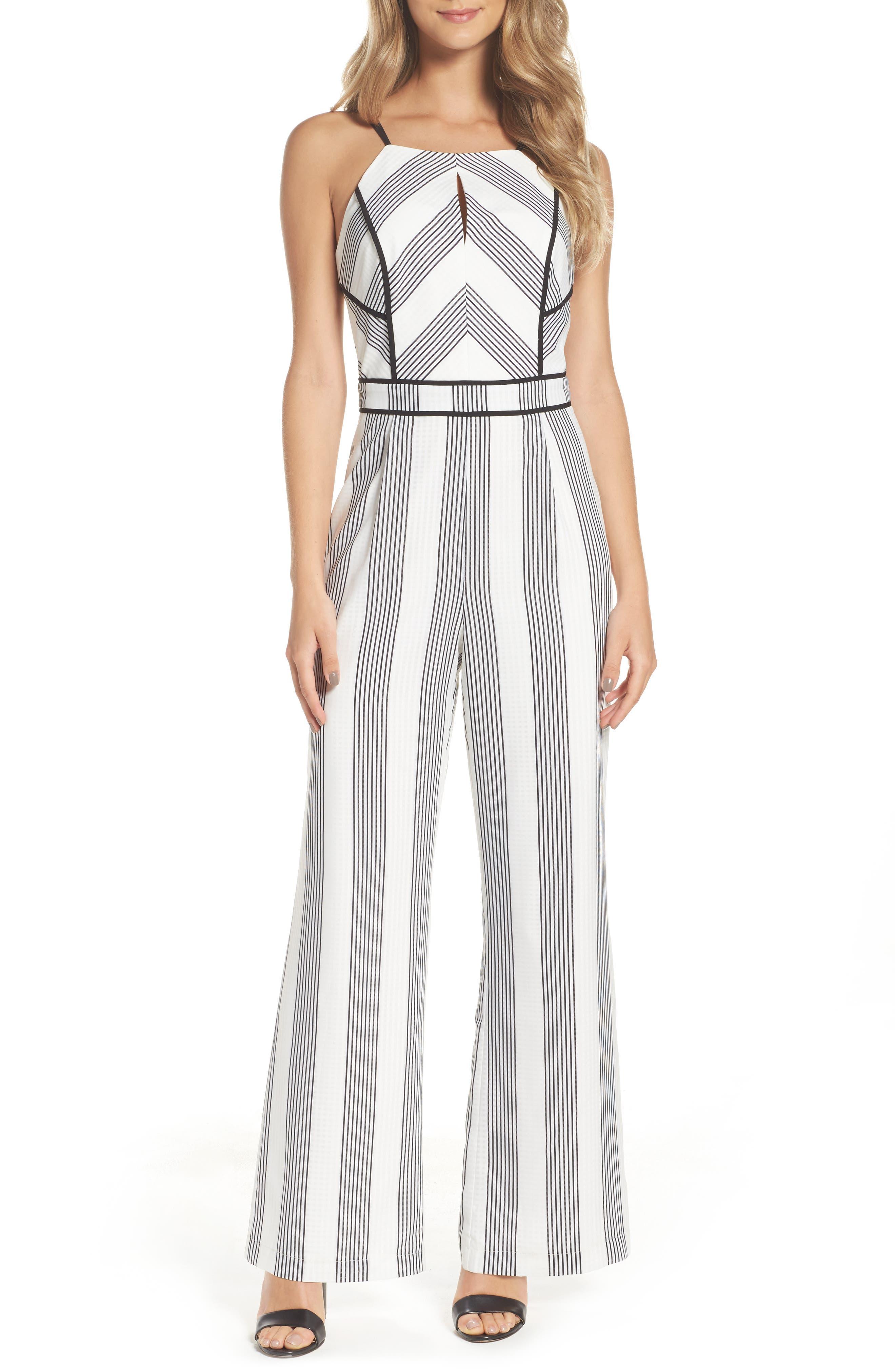 Adelyn Rae Vidette Stripe Jumpsuit