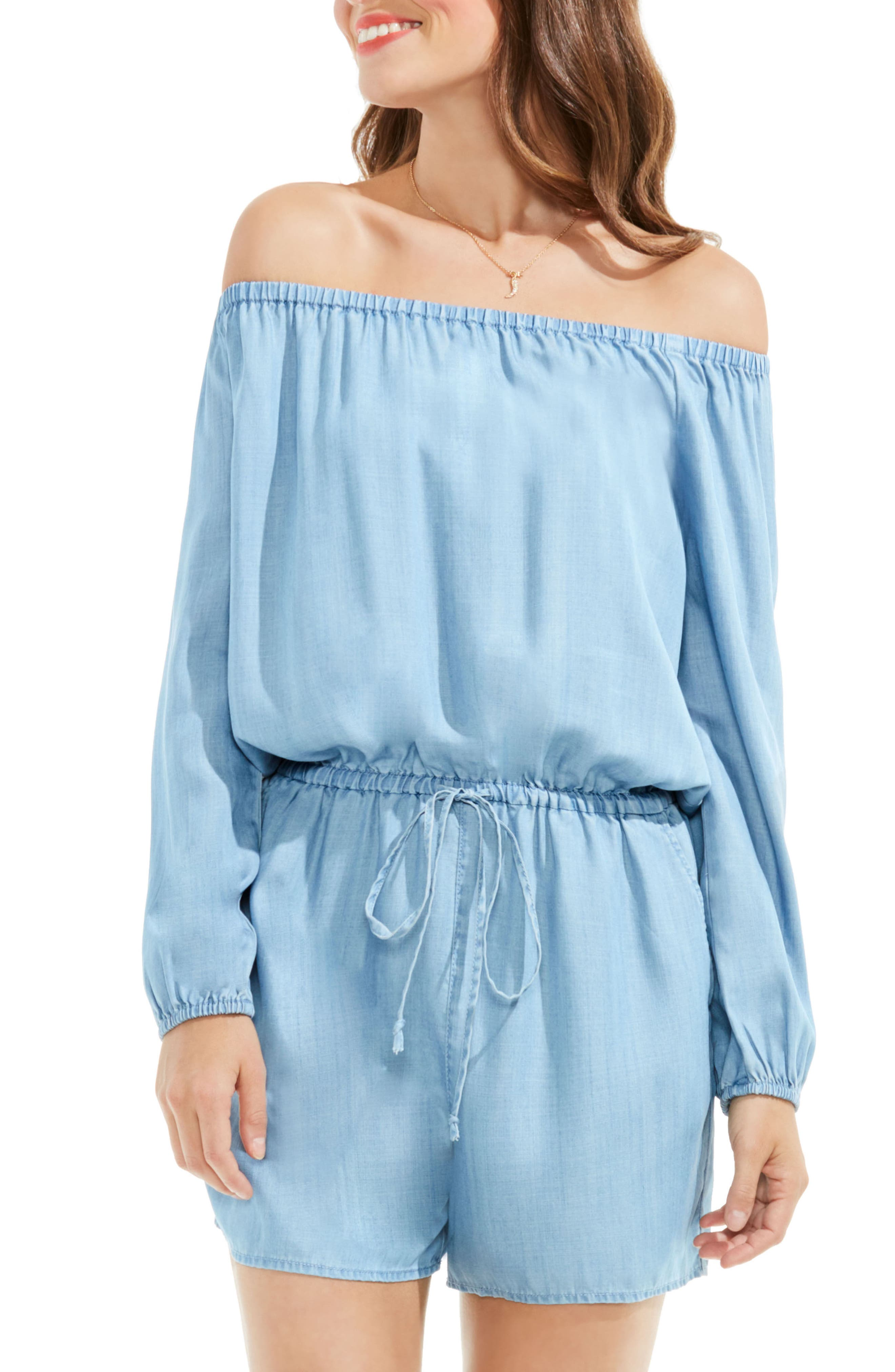 Two by Vince Camuto Tencel® Off the Shoulder Romper