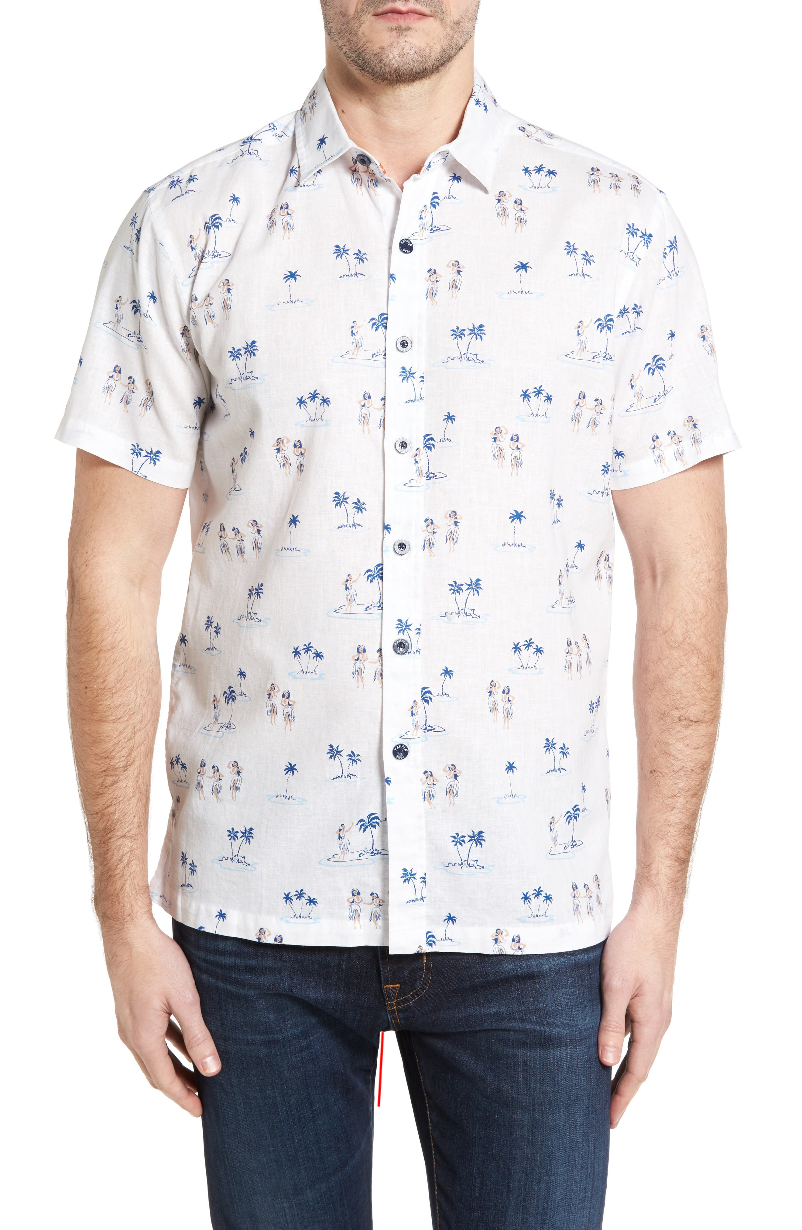 Kalaha Makapuu Print Sport Shirt