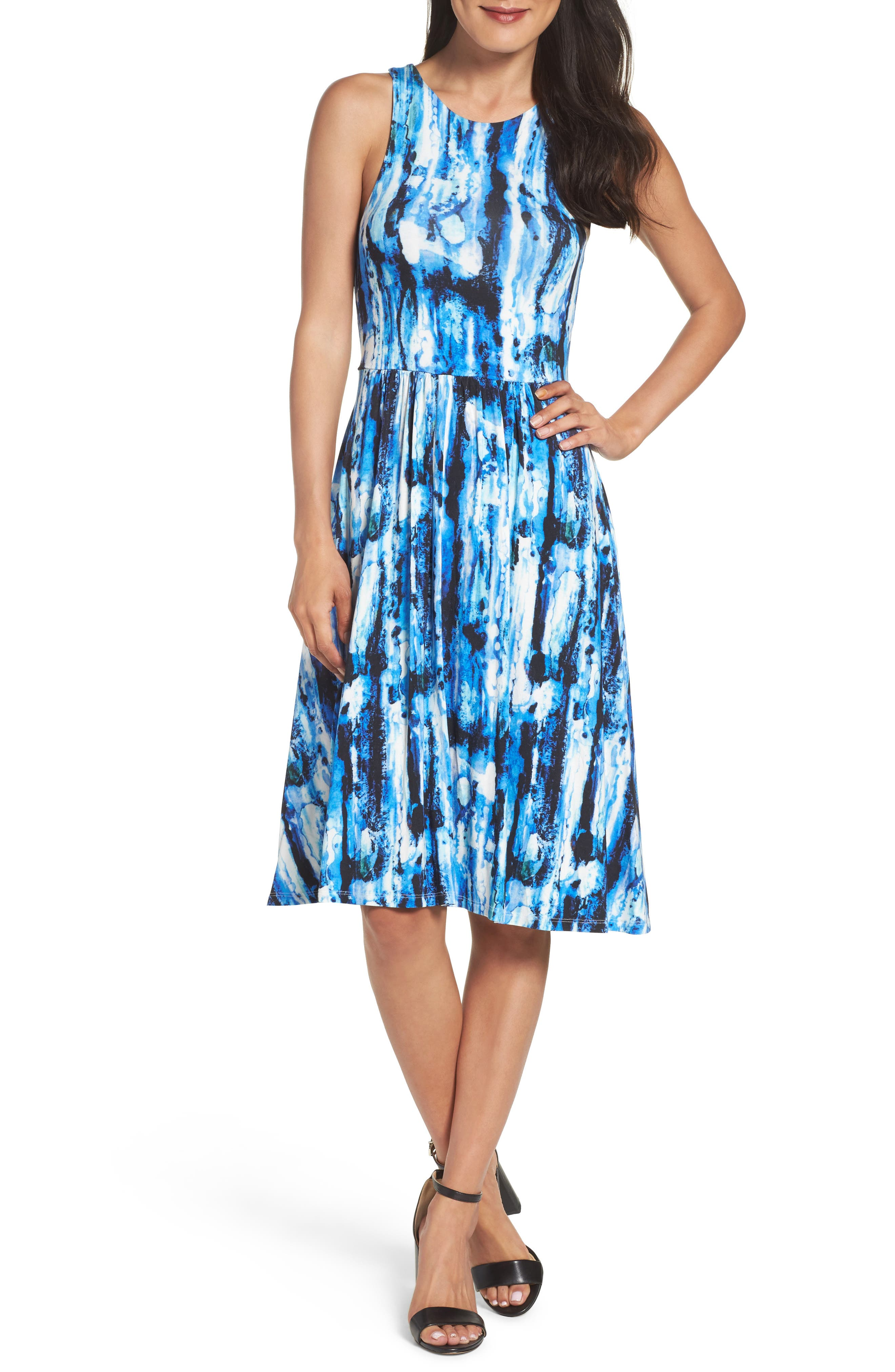 Main Image - Felicity & Coco Print Fit & Flare Dress (Regular & Petite) (Nordstrom Exclusive)