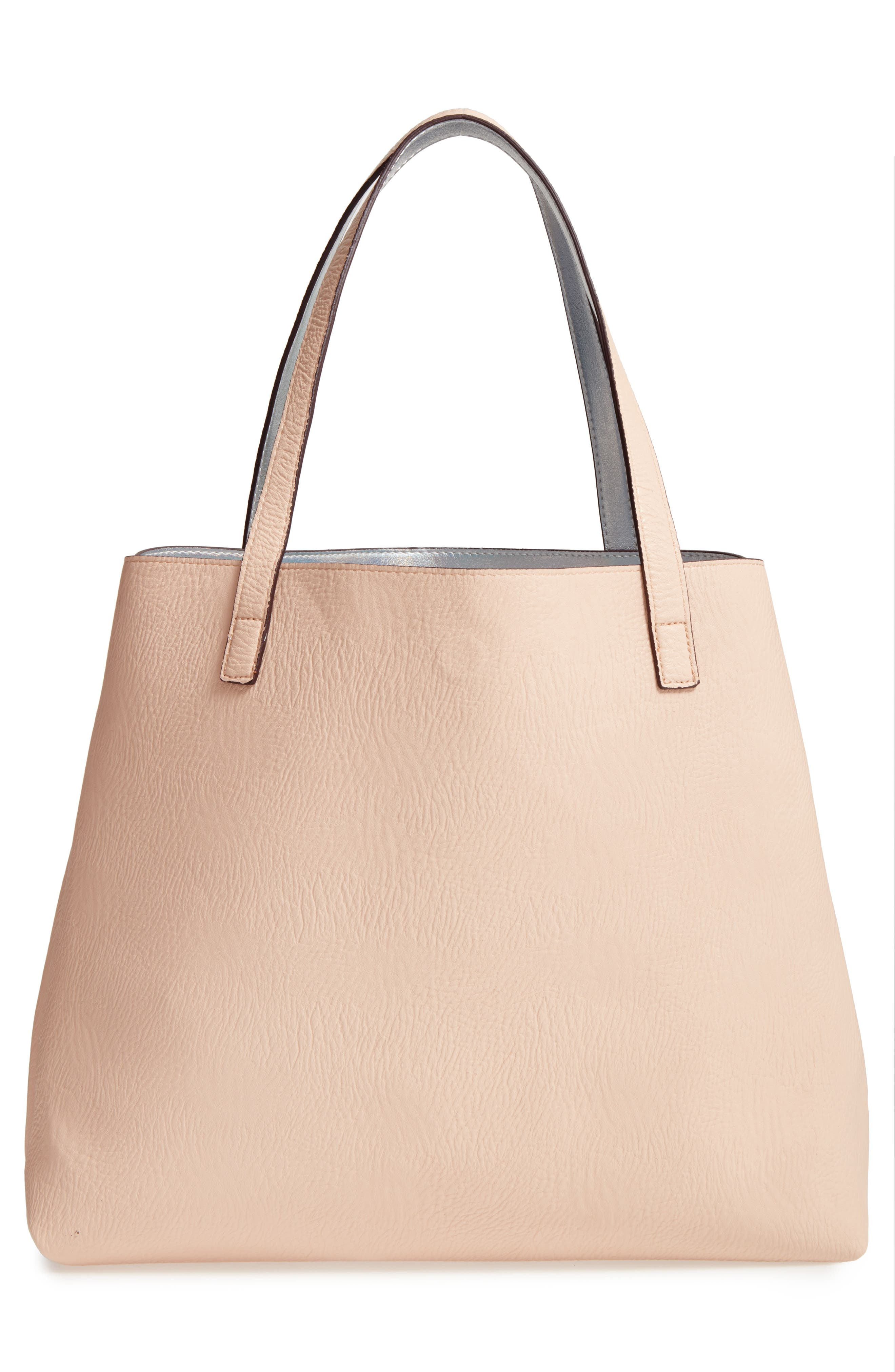 Street Level Reversible Faux Leather Tote & Wristlet   Nordstrom