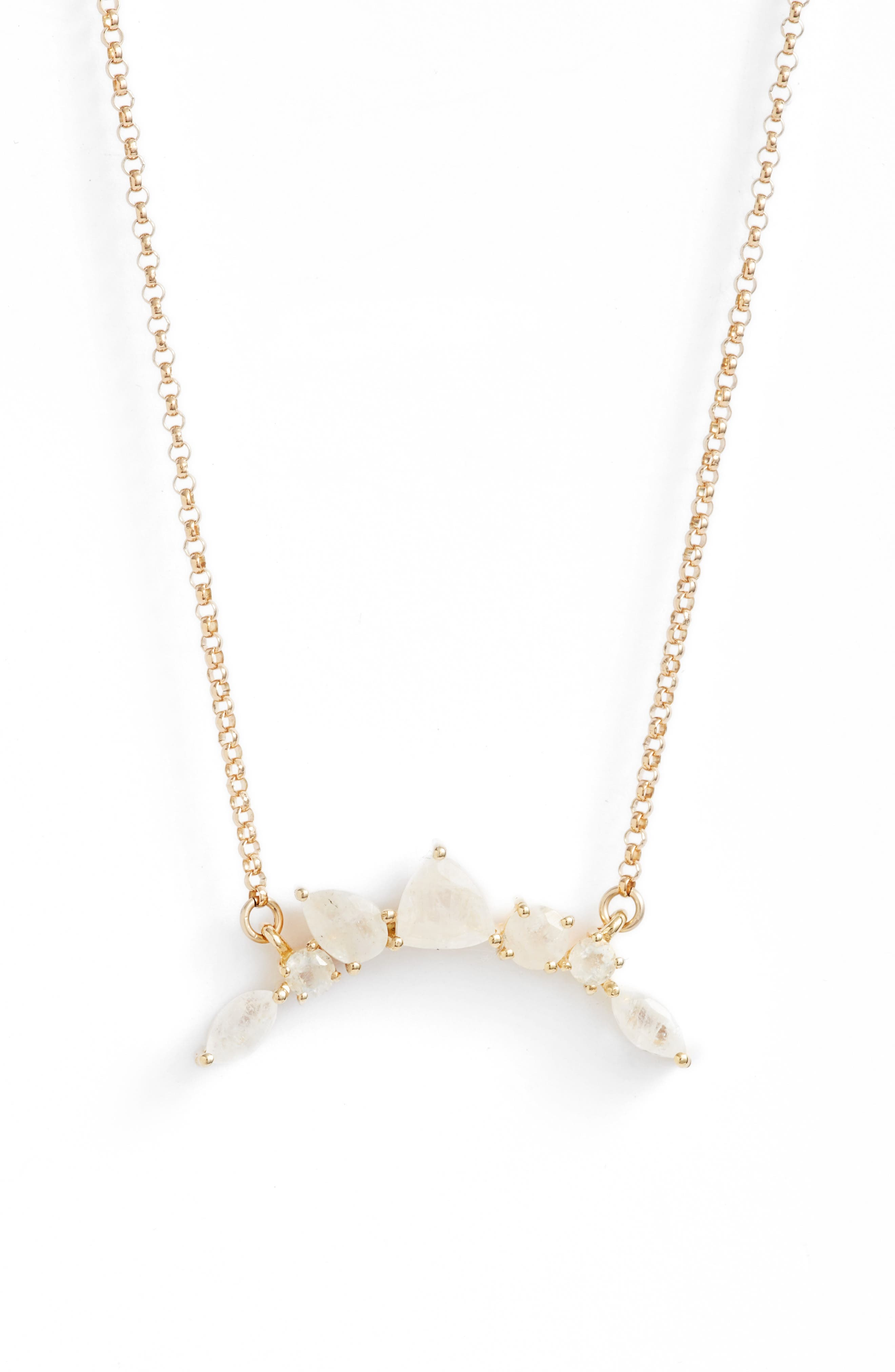 Leah Alexandra Moonstone Pendant Necklace