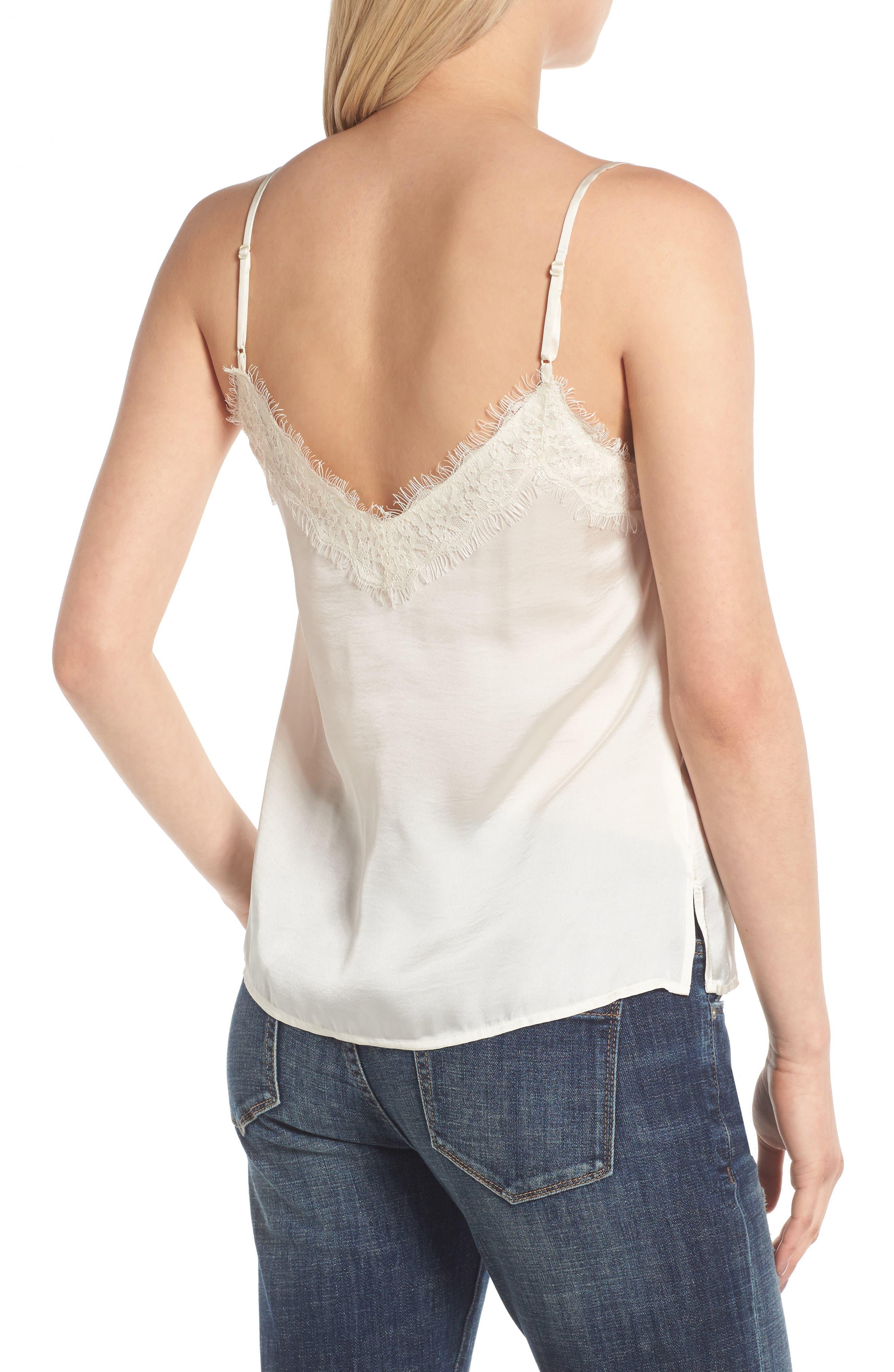 Alternate Image 2  - BP. Lace Trim Satin Camisole