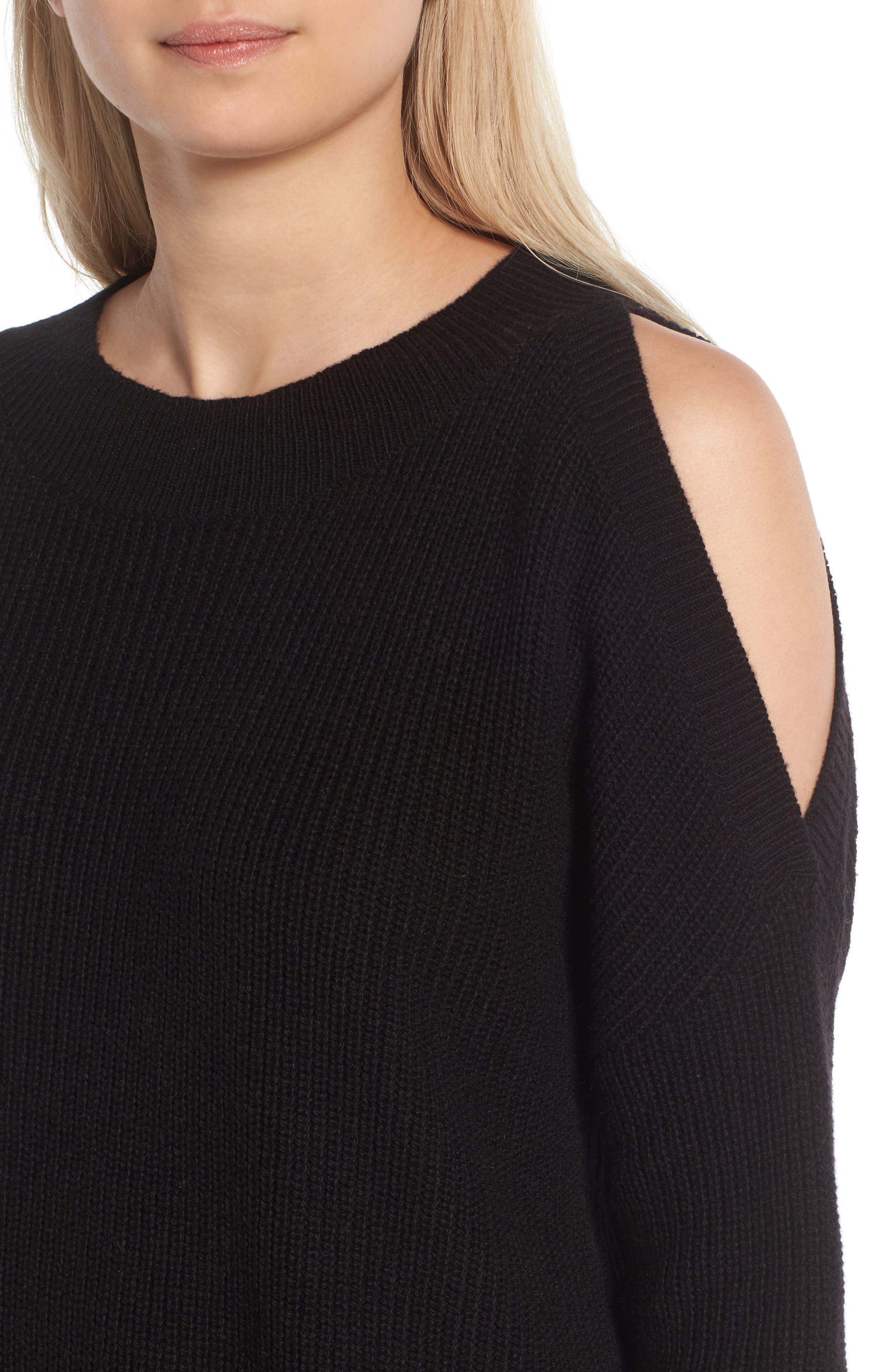 Alternate Image 4  - BP. Cold Shoulder Tunic Sweater