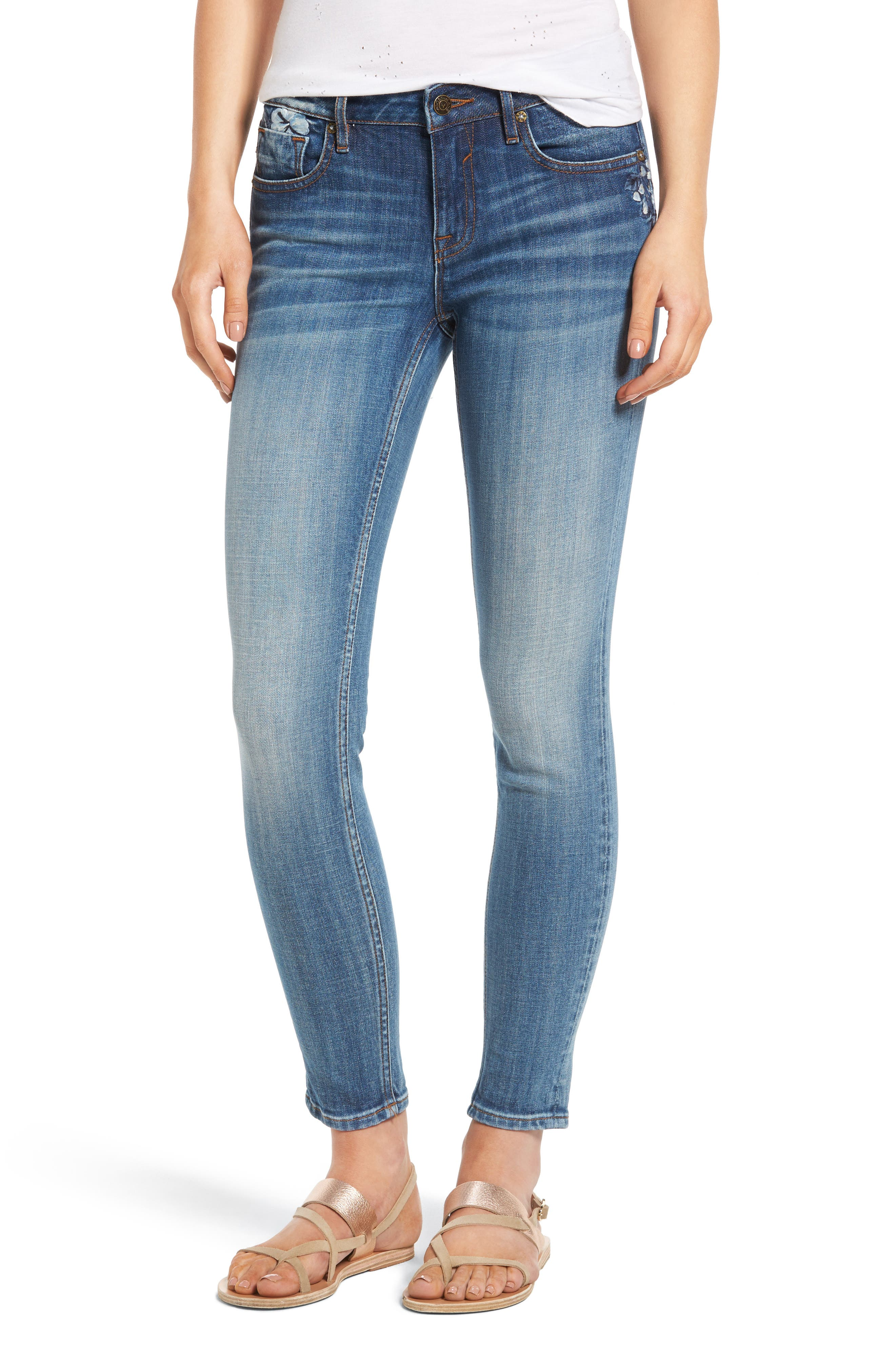 Vigoss Jagger Embriodered Skinny Jeans