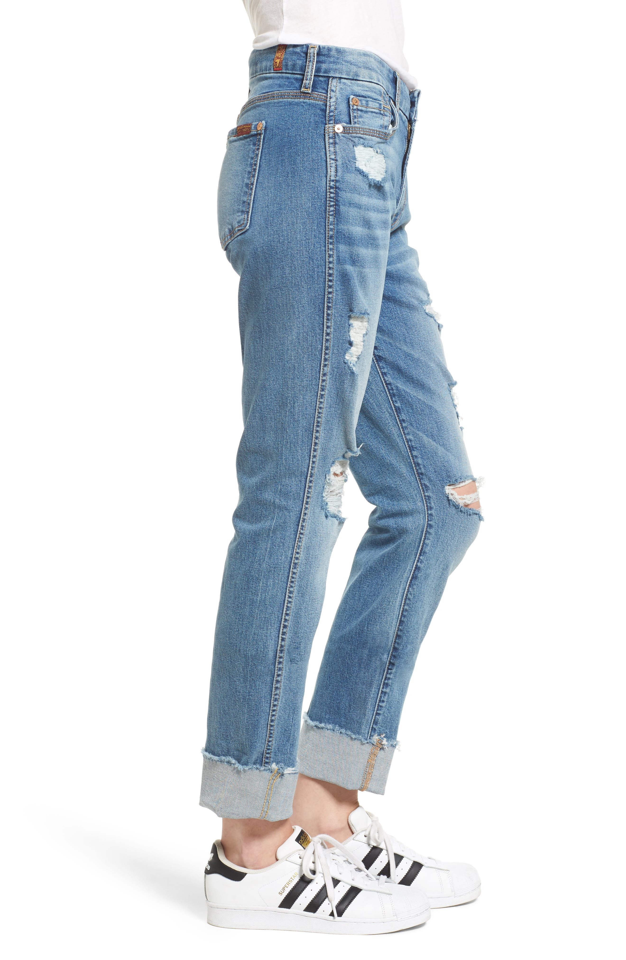 Alternate Image 3  - 7 For All Mankind® Fashion High Waist Boyfriend Jeans (Vintage Air Classic)