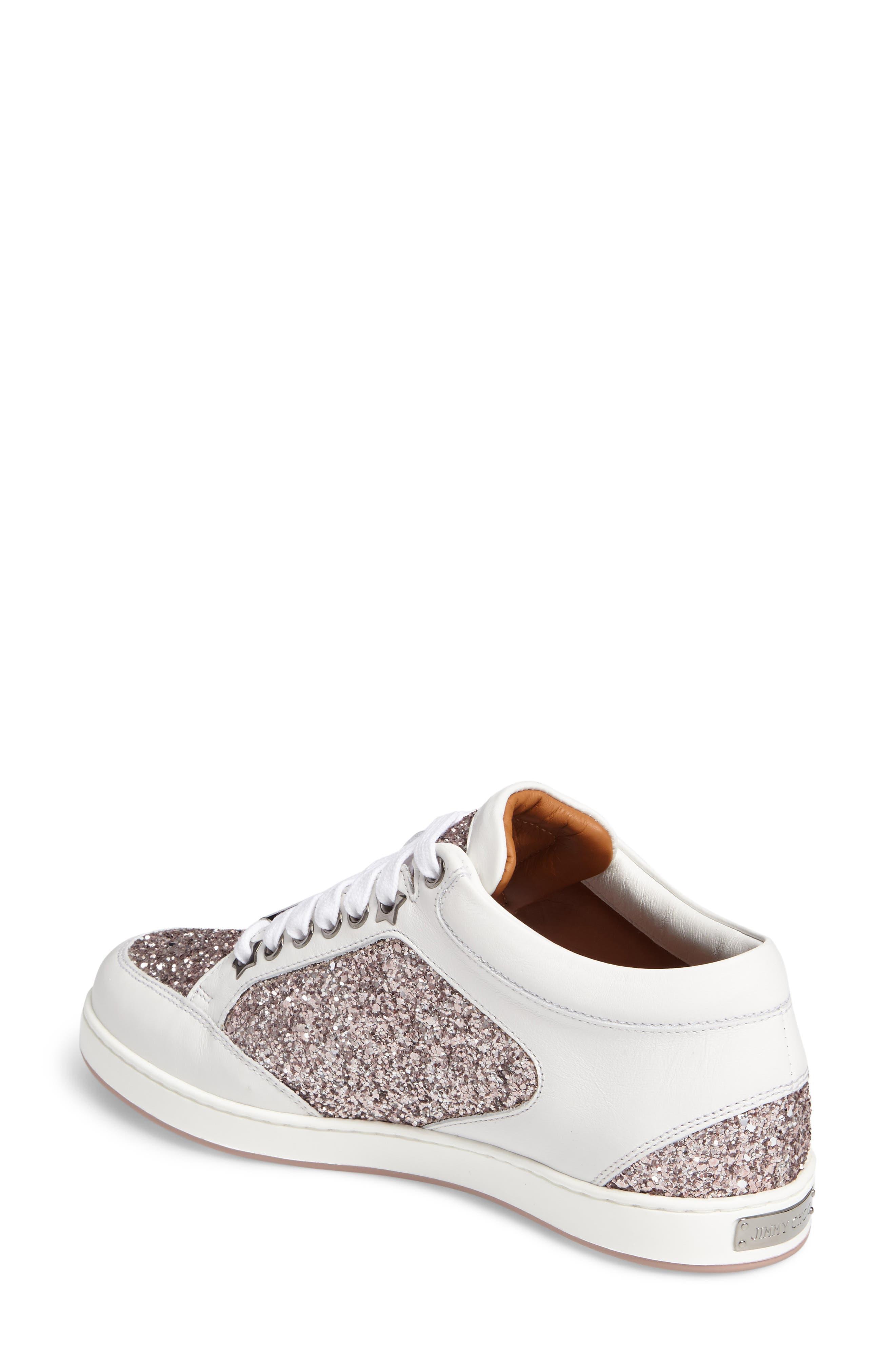 Alternate Image 2  - Jimmy Choo Miami Glitter Sneaker (Women)