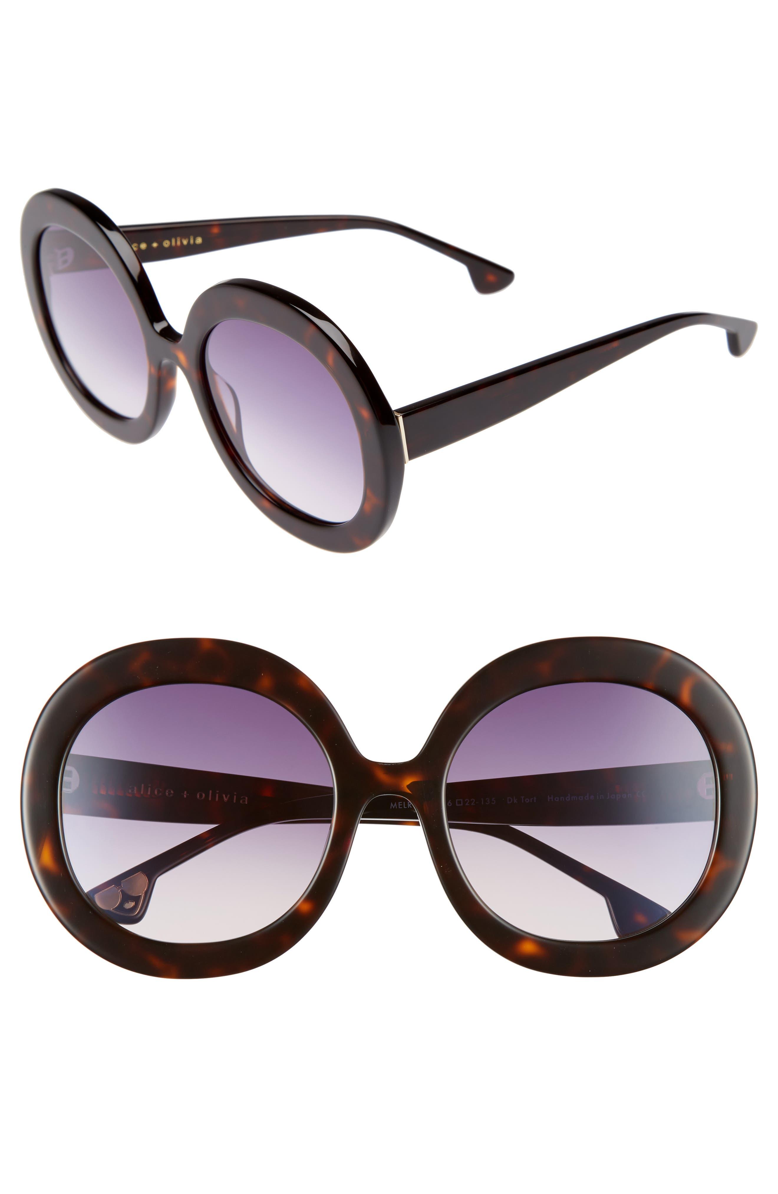 Alternate Image 1 Selected - Alice + Olivia Melrose 56mm Round Sunglasses