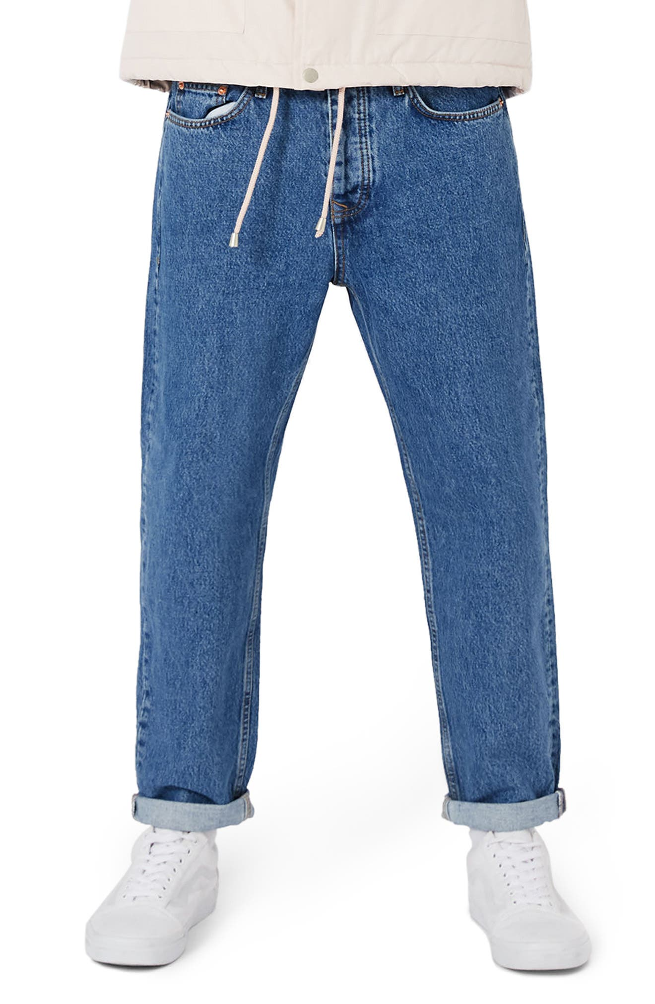 Topman Original Crop Straight Leg Jeans