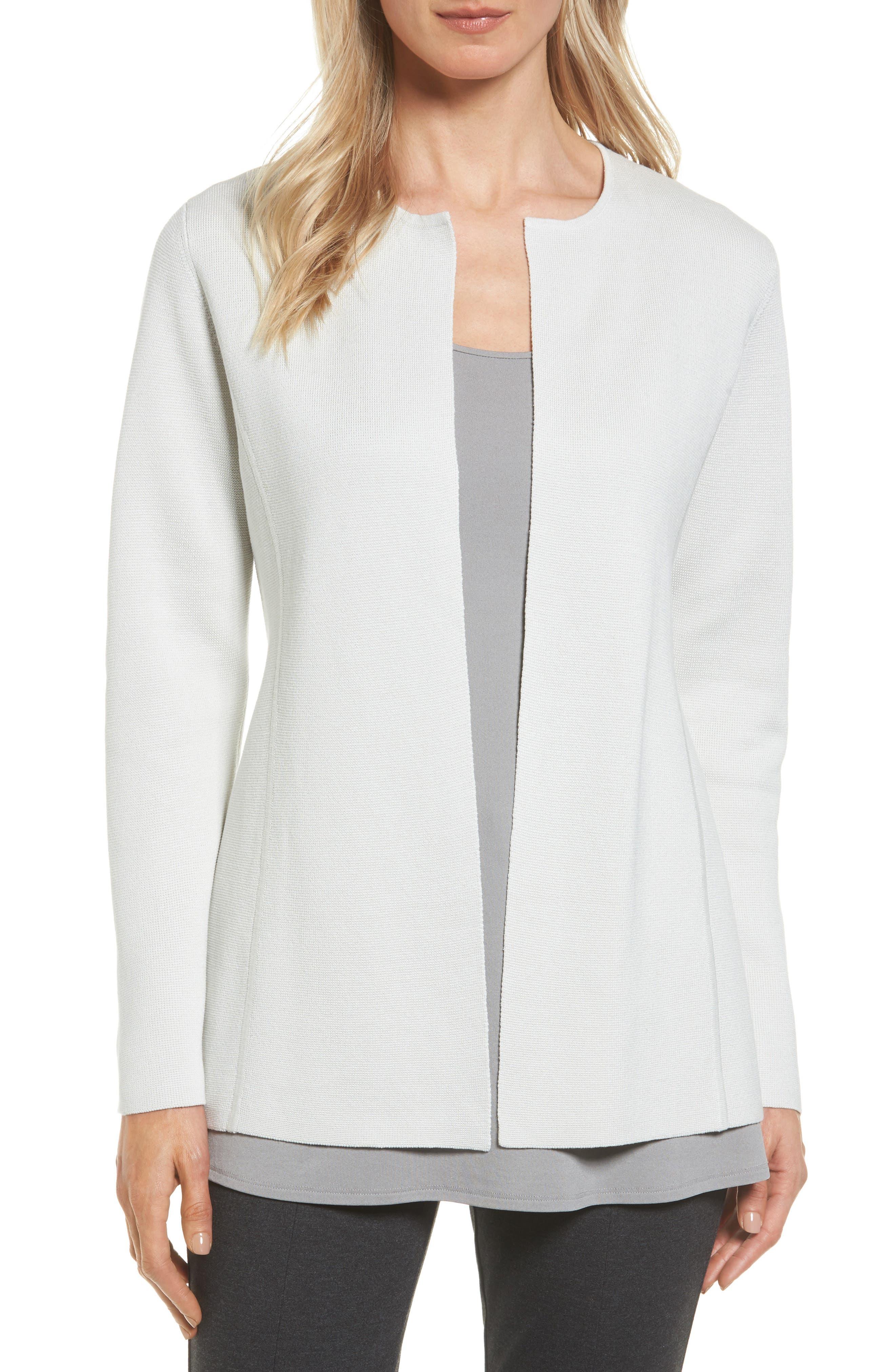 Eileen Fisher Silk & Organic Cotton Cardigan