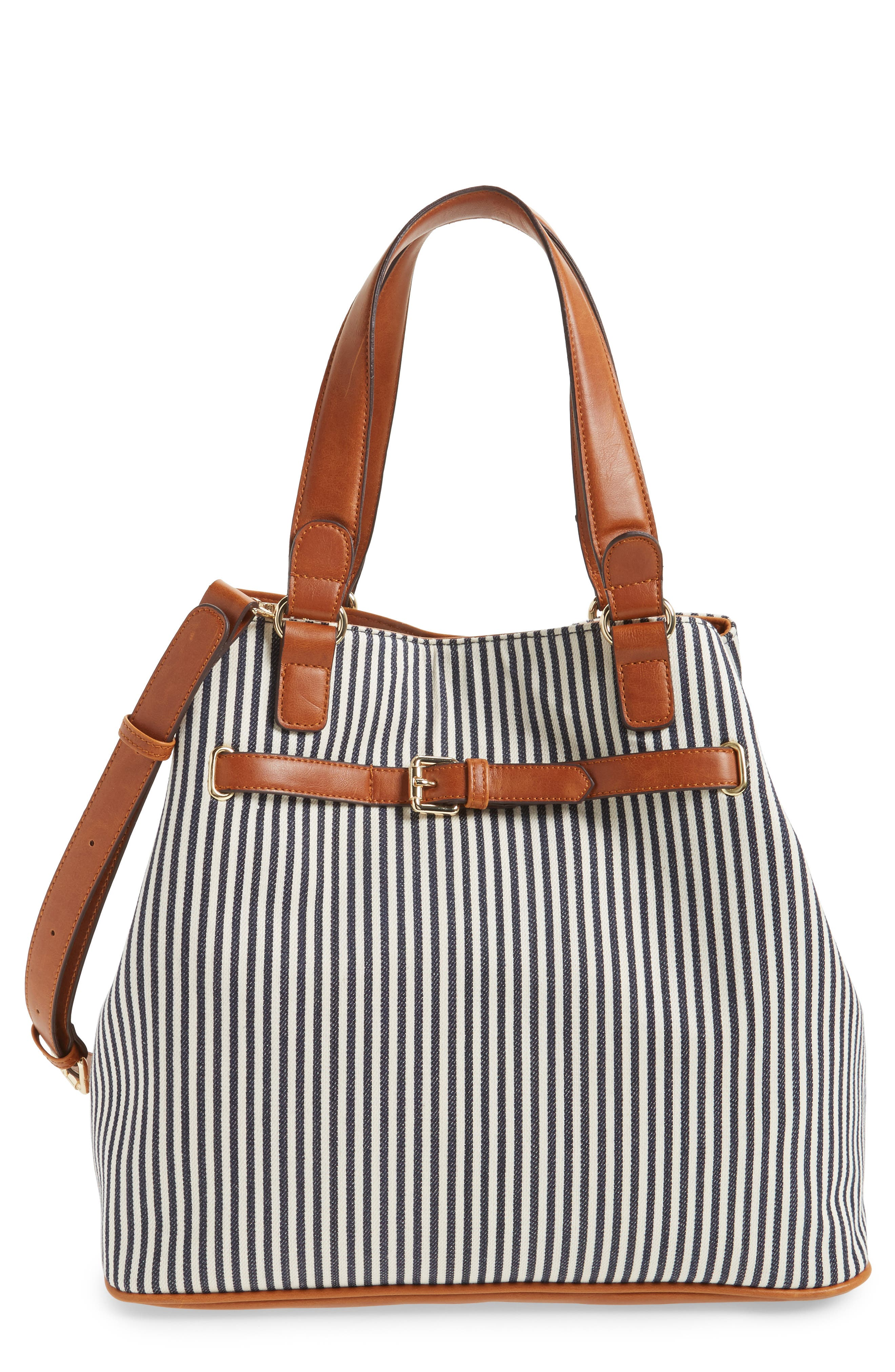 Main Image - Sole Society 'Nina' Belted Geo Tote