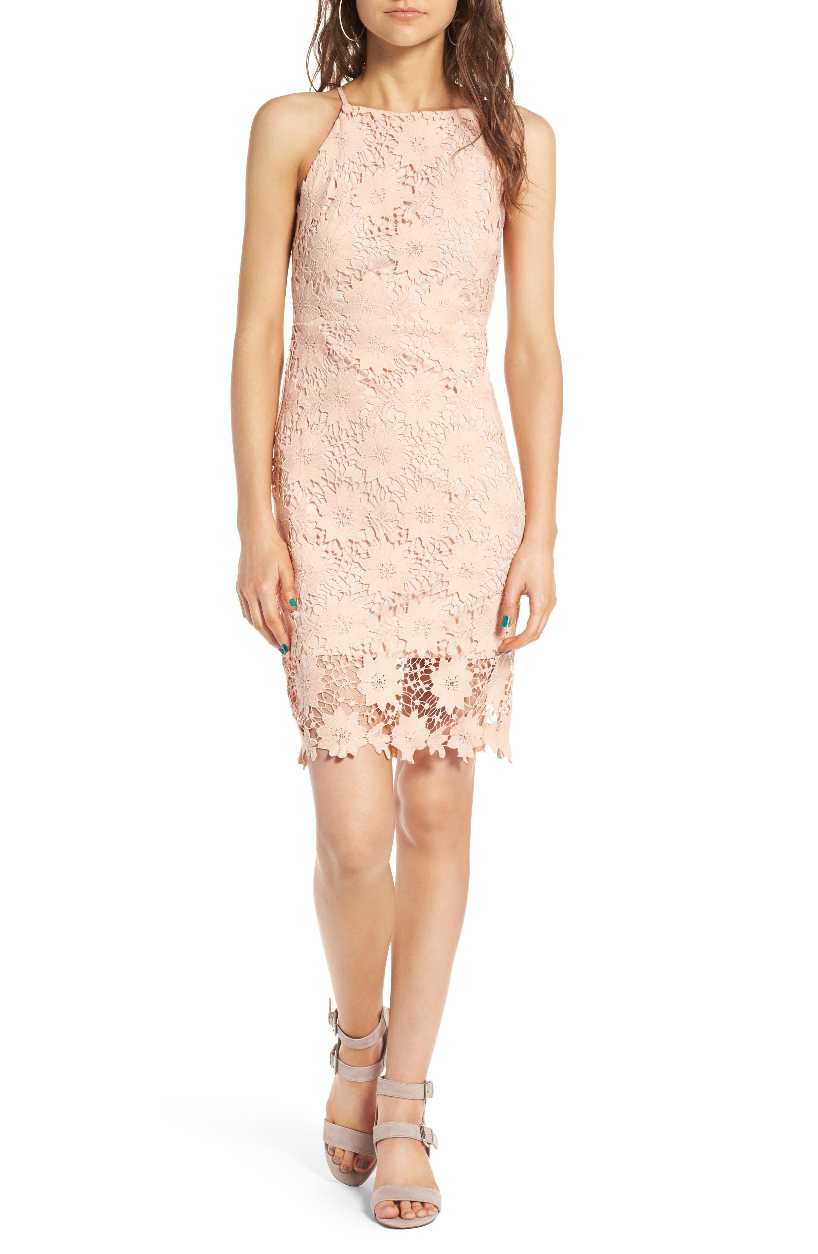 Soprano High Neck Lace Body-Con Dress