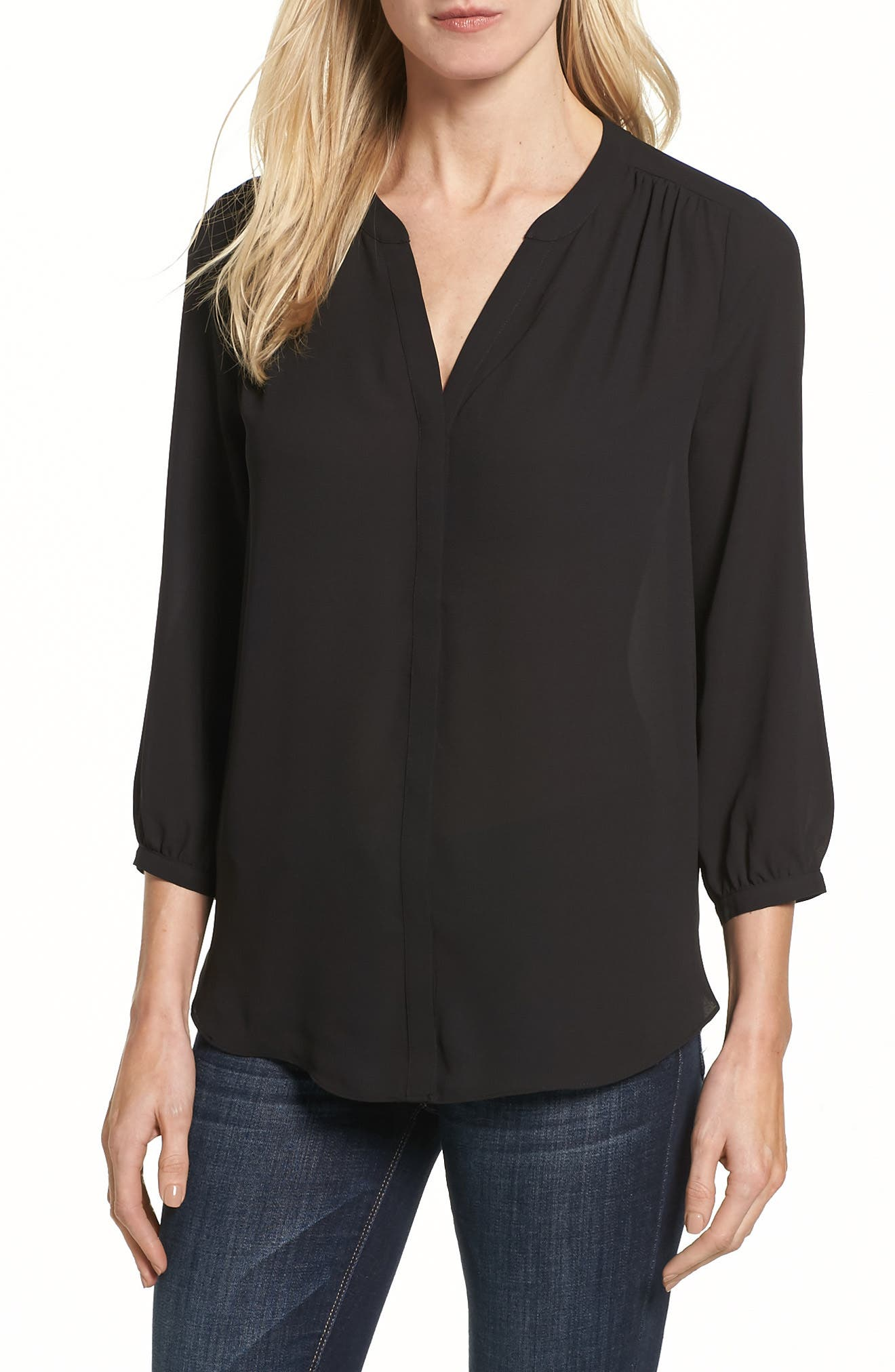 NYDJ Pleat Back Blouse (Regular & Petite)