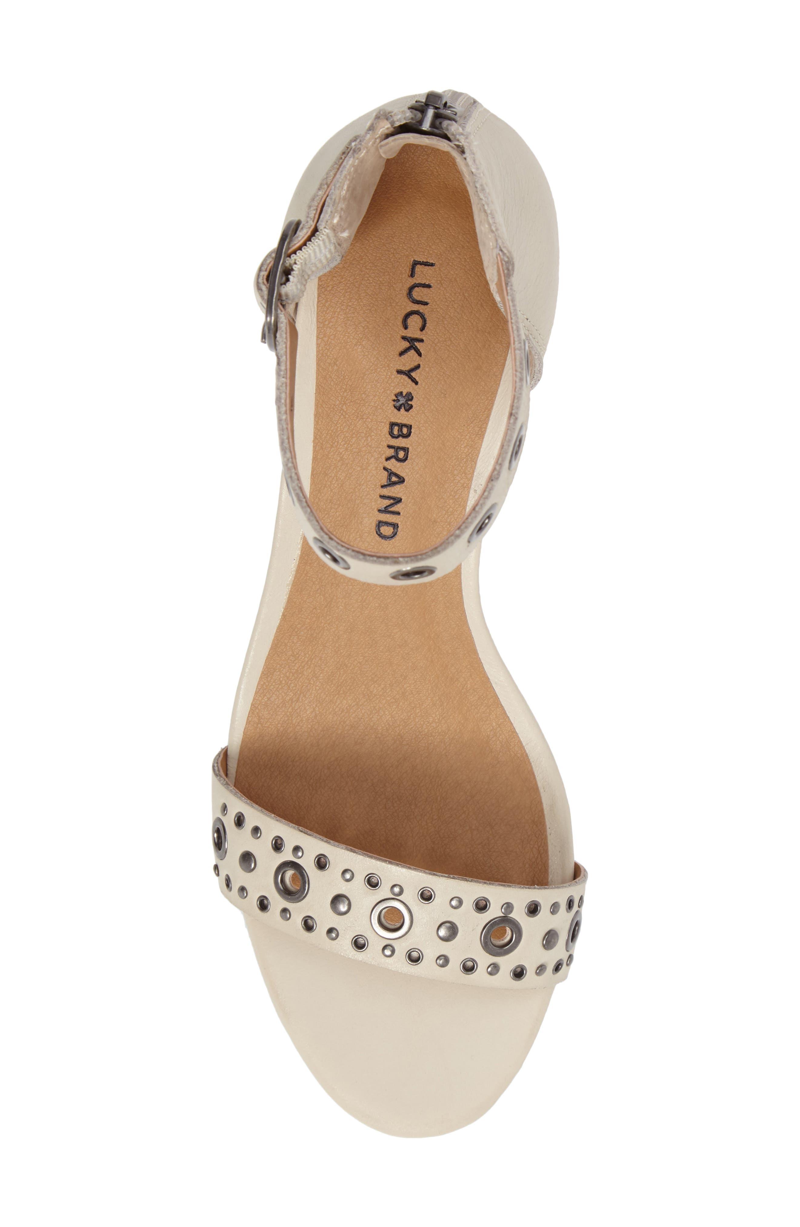 Alternate Image 5  - Lucky Brand Jorey Ankle Strap Wedge Sandal (Women)