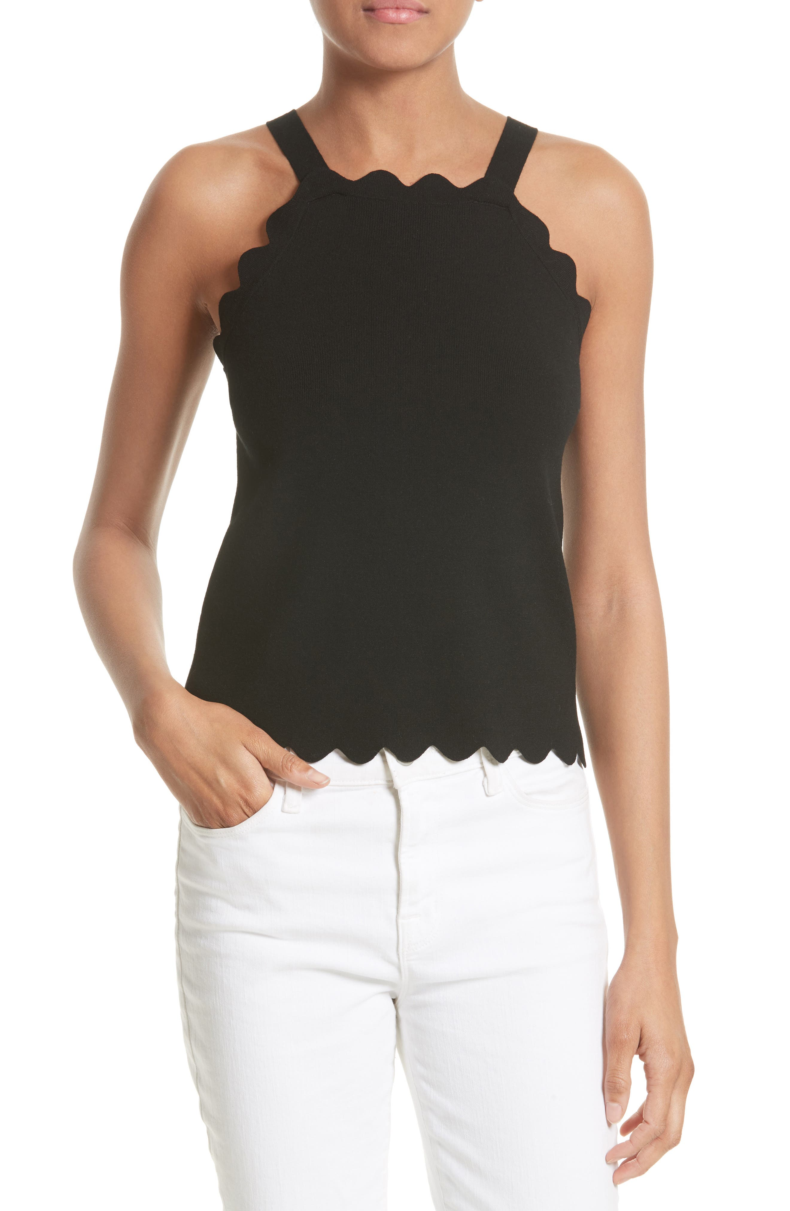 Milly Scallop Knit Tank