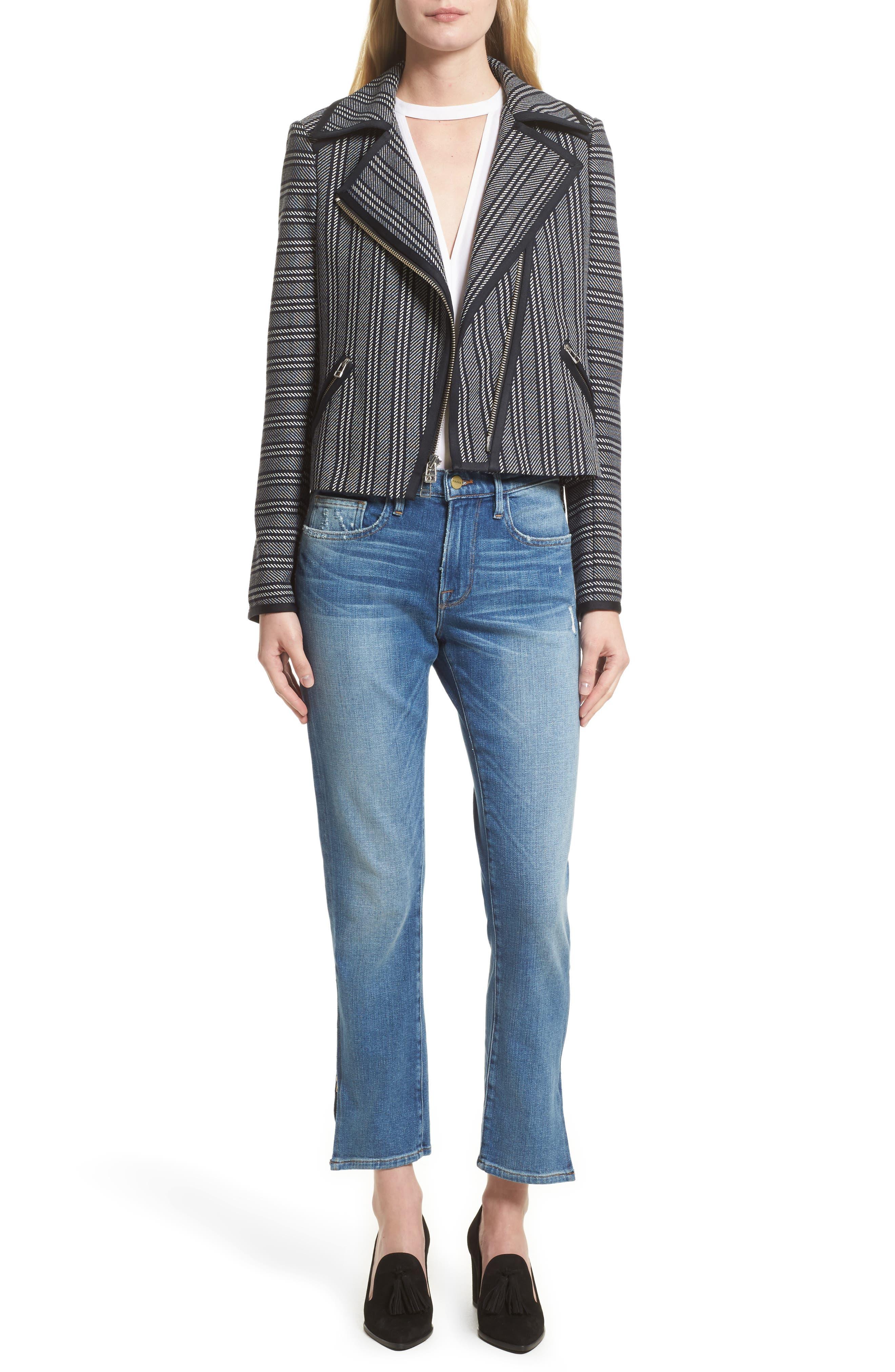 Alternate Image 9  - FRAME Le Boy Zip Hem Crop Jeans (Picadilly) (Nordstrom Exclusive)