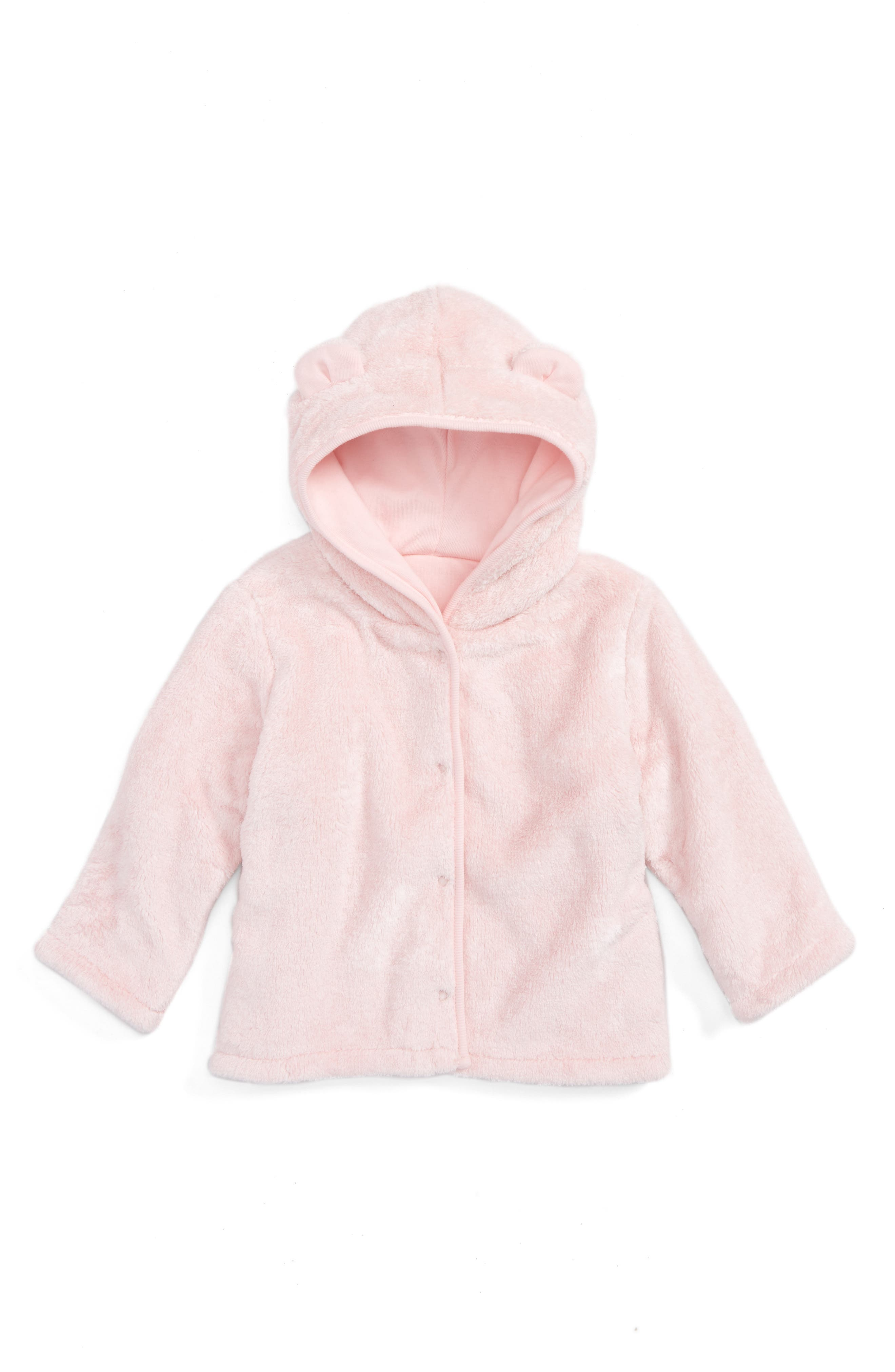 Nordstrom Baby Animal Ear Fleece Hoodie (Baby Girls)