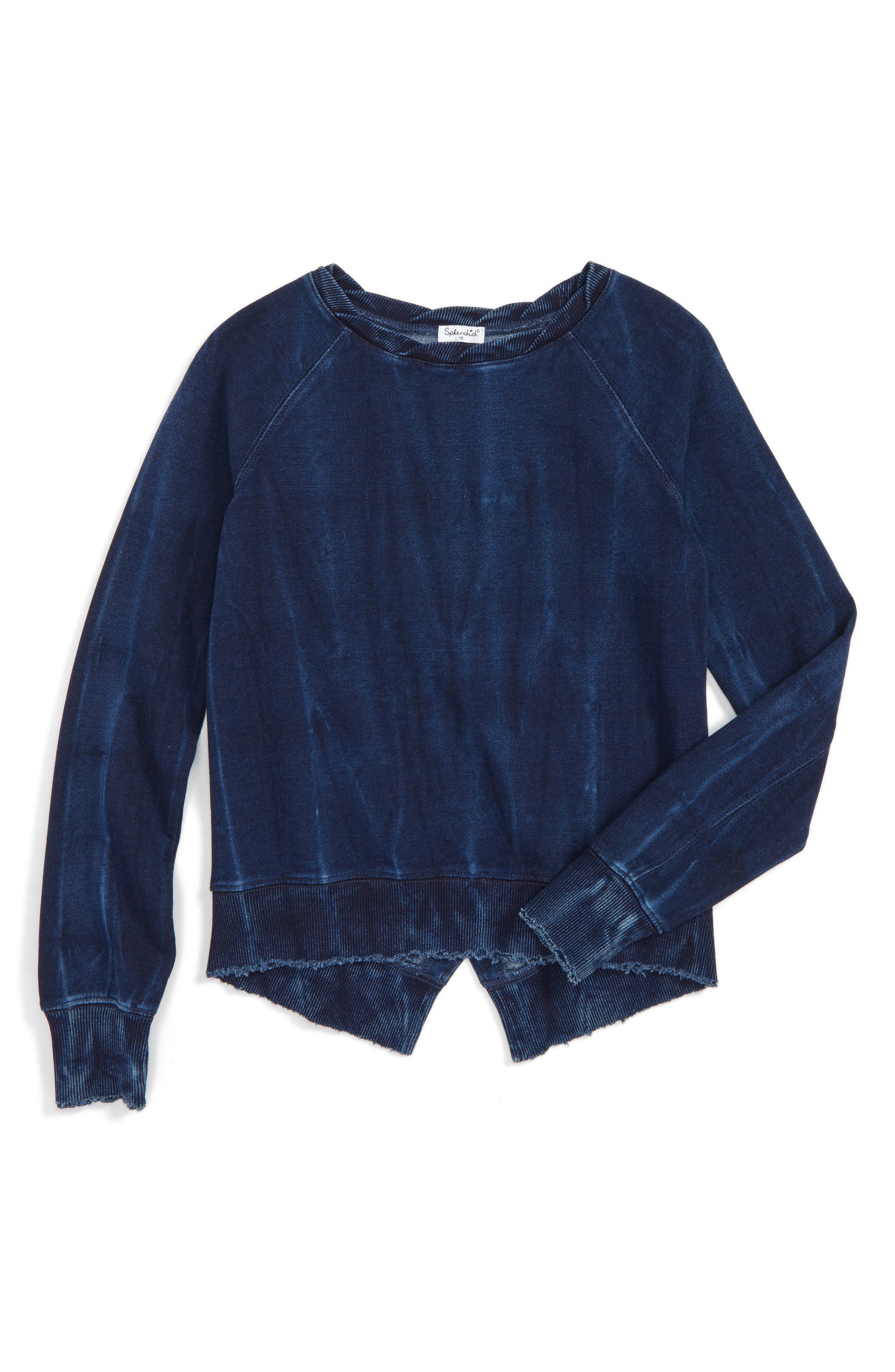 Splendid Split Hem Sweatshirt (Big Girls)