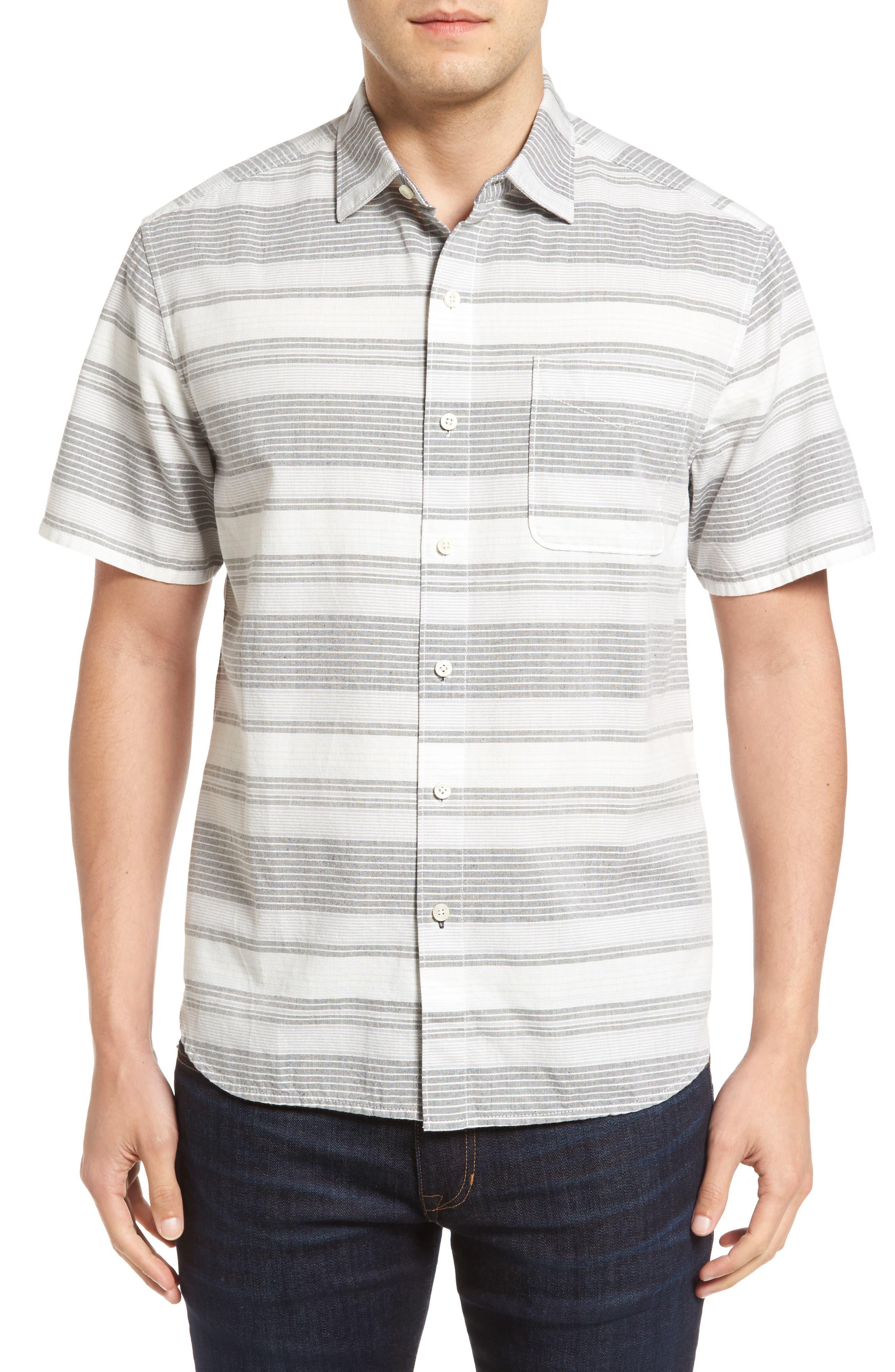 Tommy Bahama Clambake Stripe Standard Fit Sport Shirt
