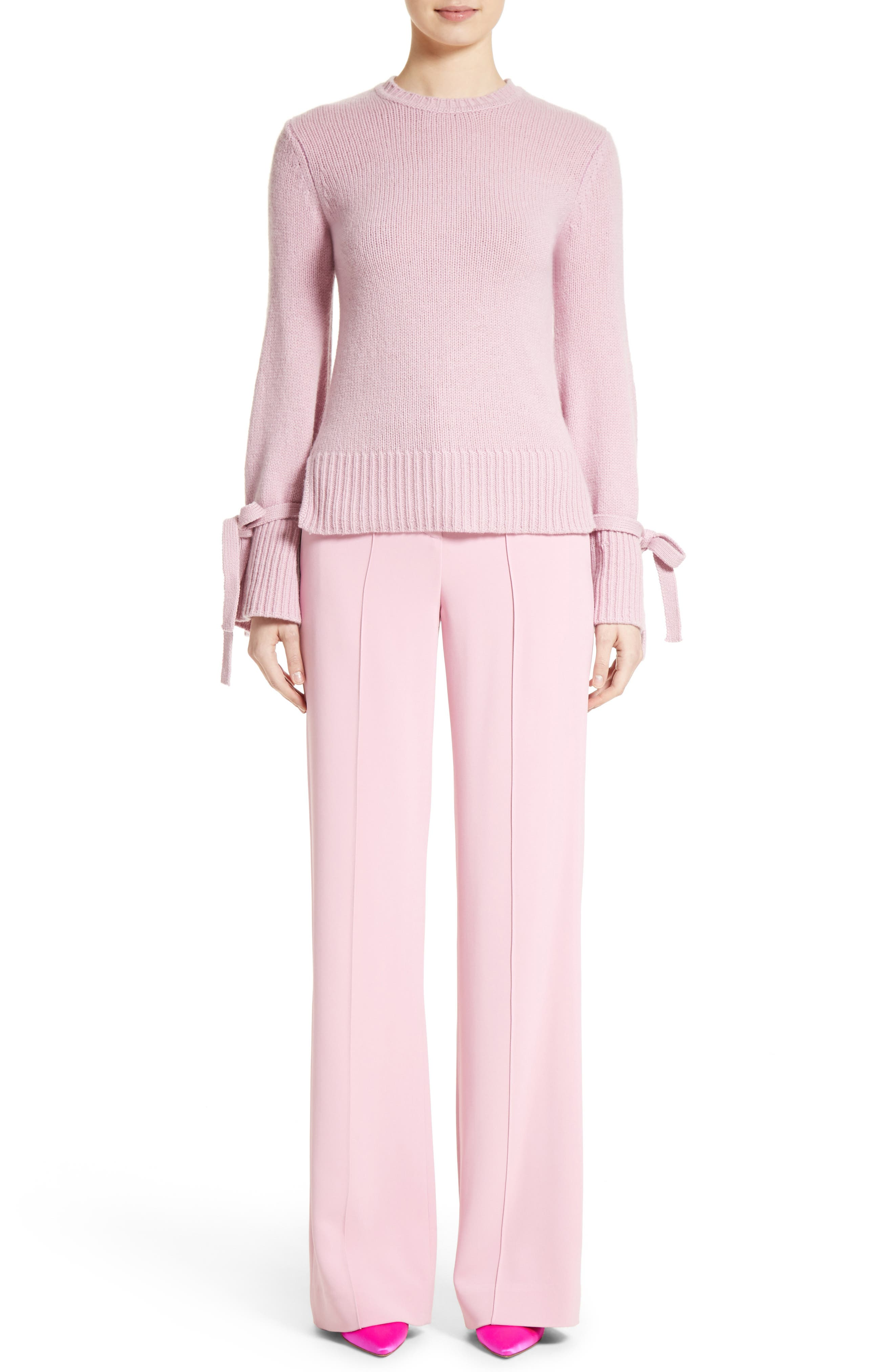 Alternate Image 8  - Adam Lippes Stretch Cady Wide Leg Trousers