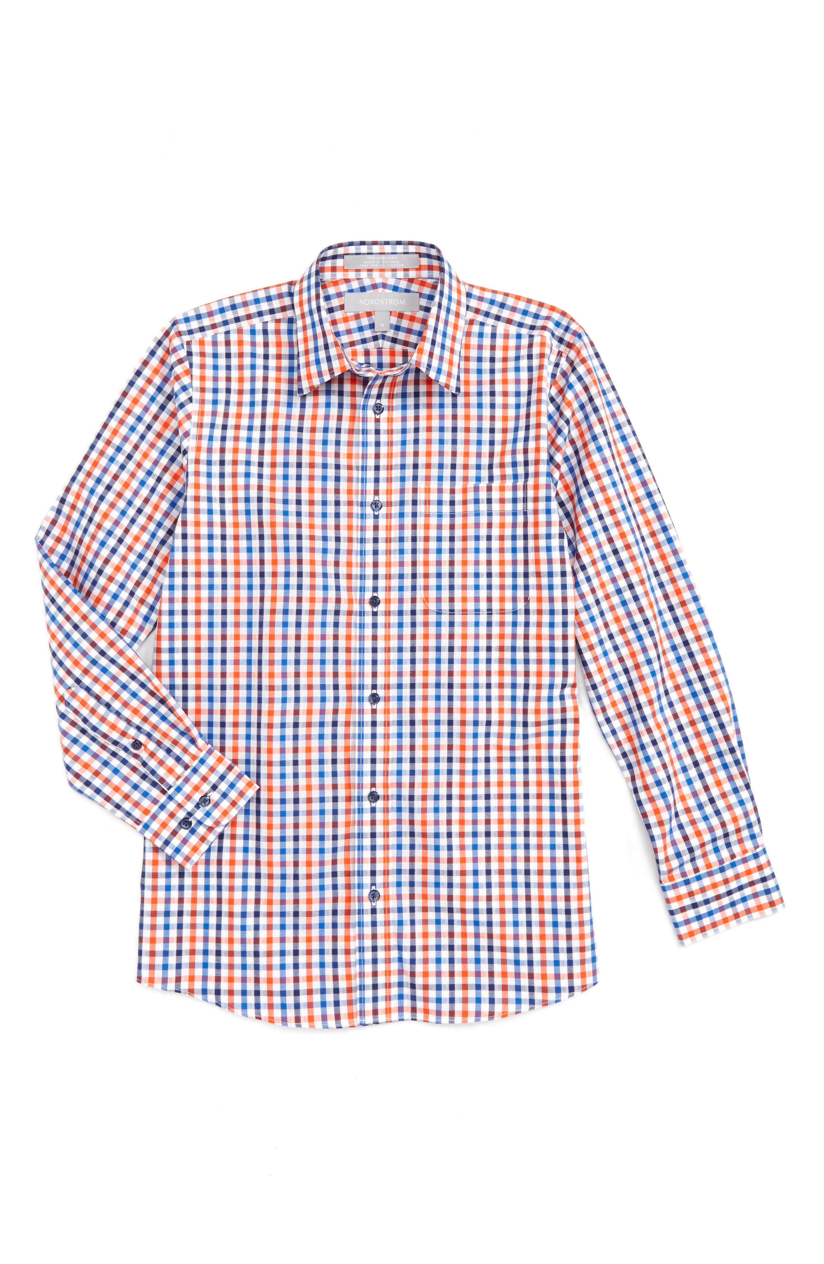 Nordstrom Plaid Woven Shirt (Toddler Boys, Little Boys & Big Boys)