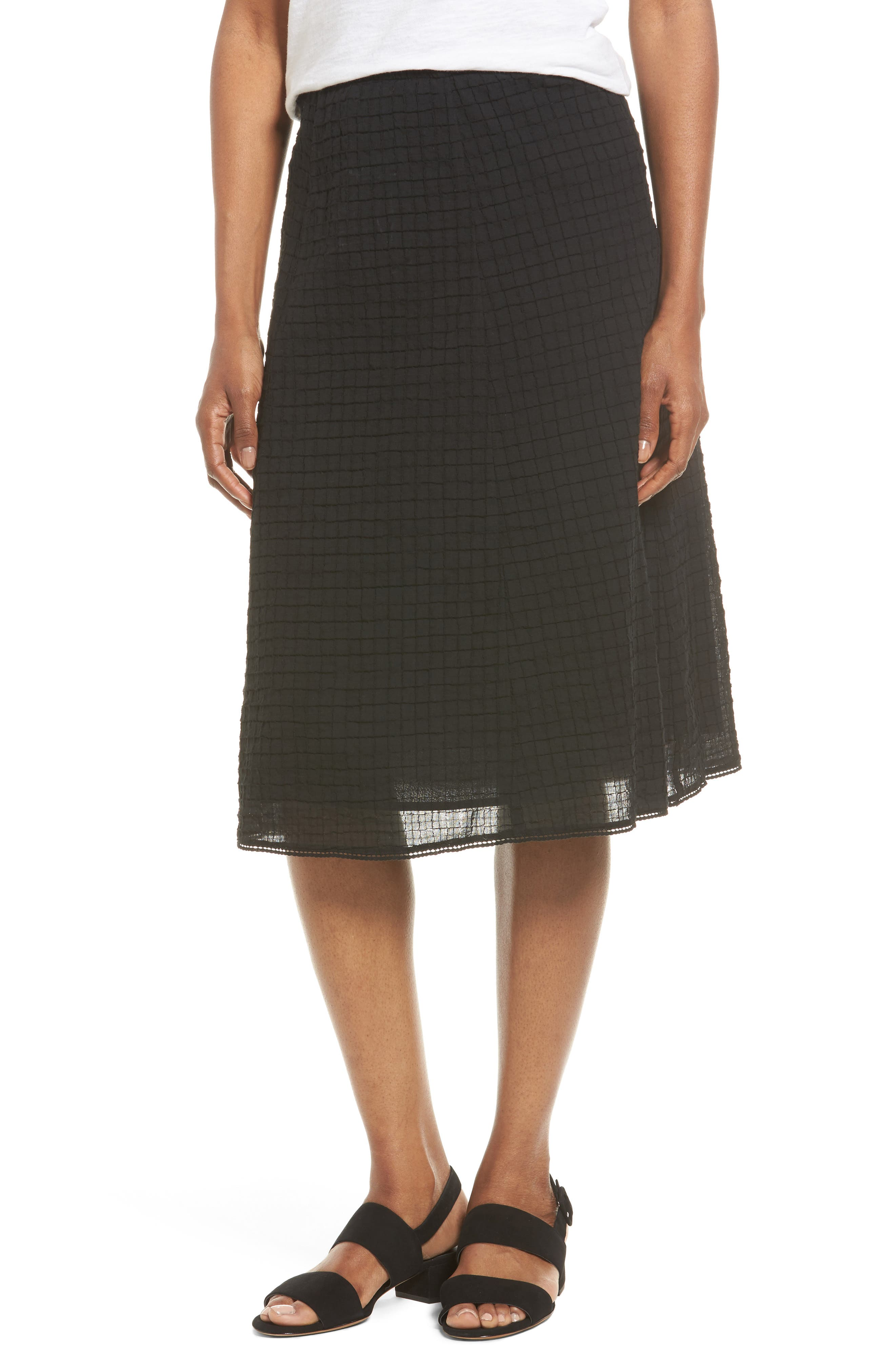 Eileen Fisher Stretch Organic Cotton Full Skirt