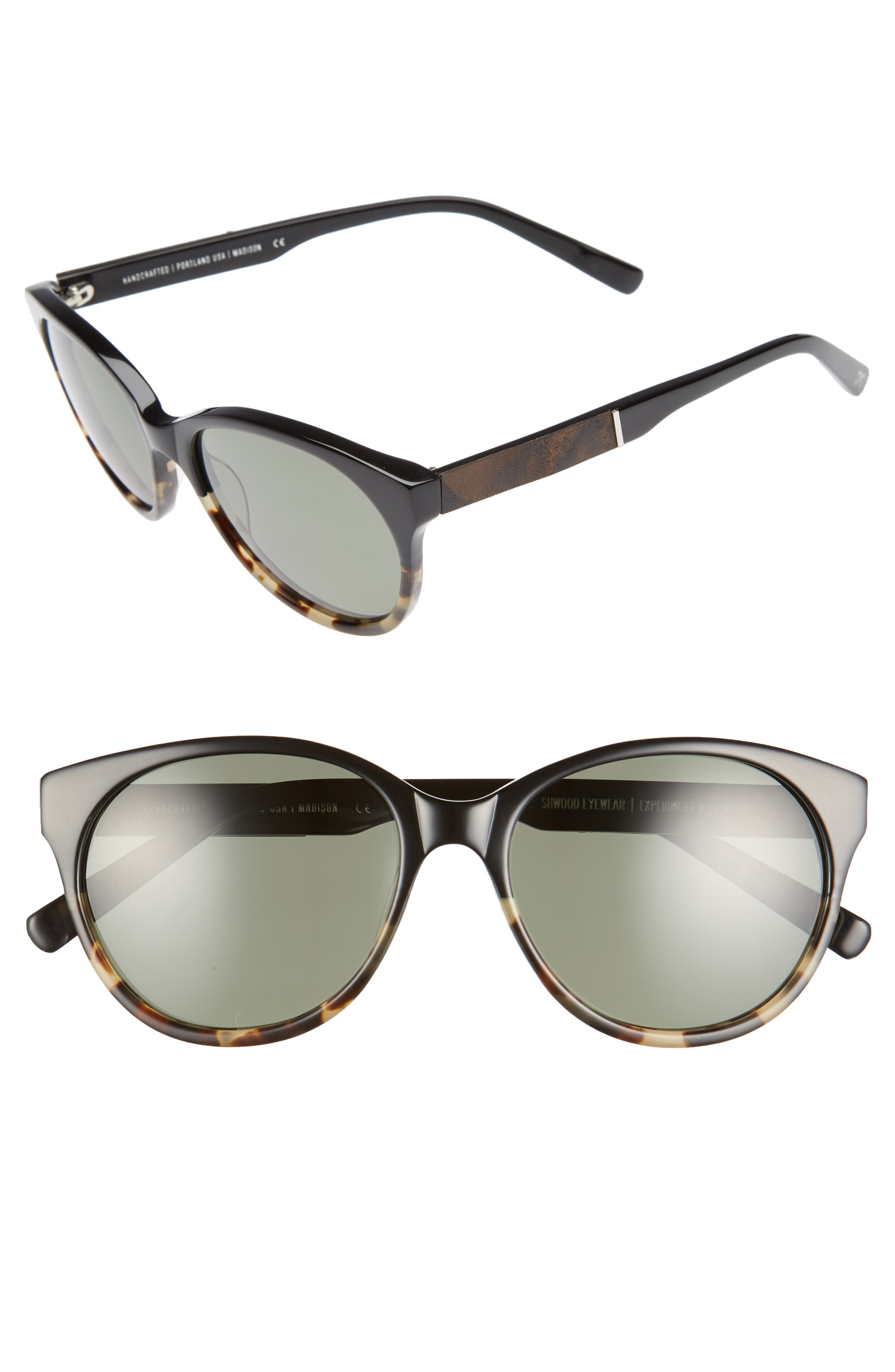 Shwood Madison 54mm Polarized Sunglasses
