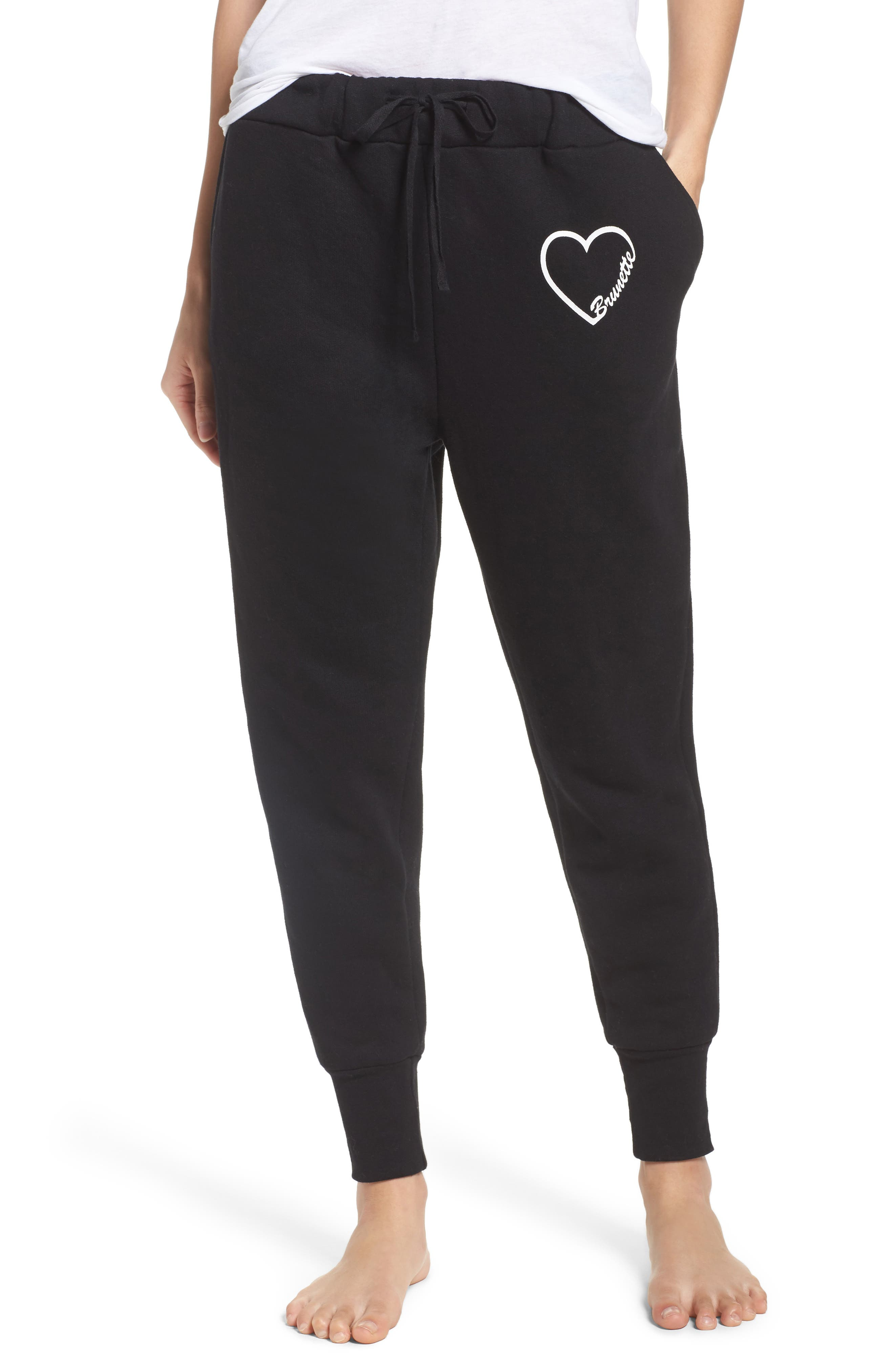 BRUNETTE the Label Brunette Heart Jogger Pants