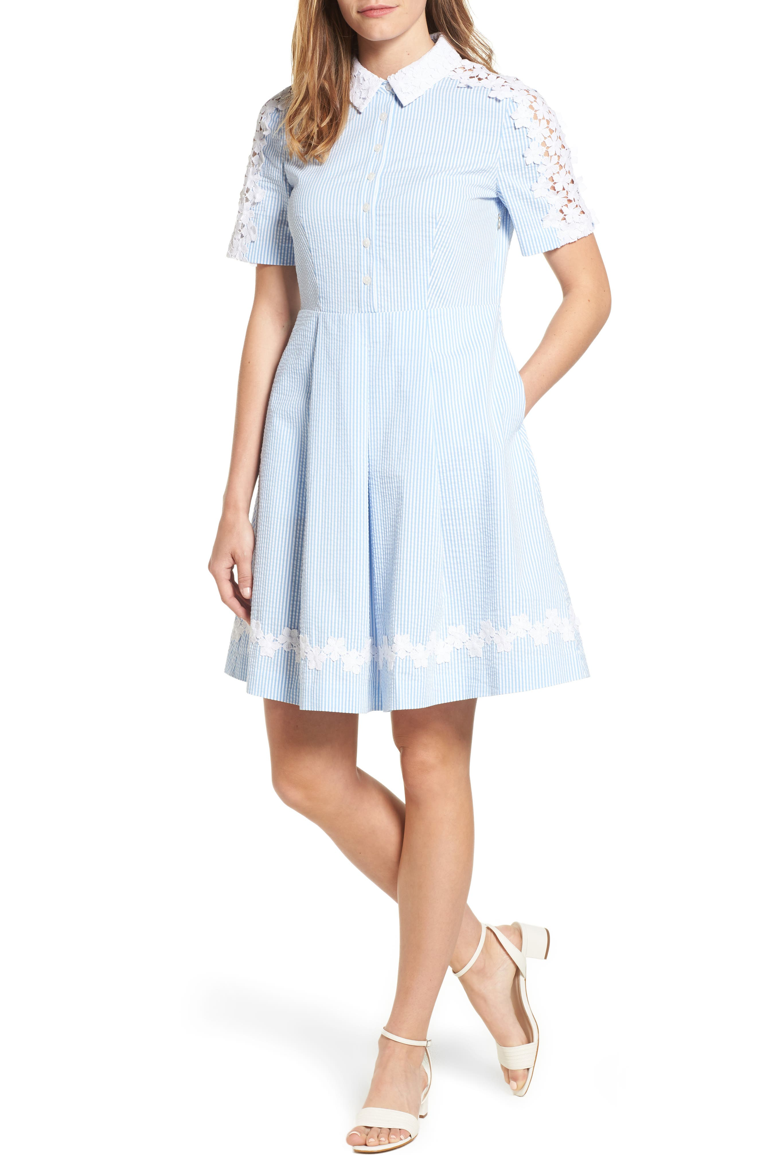 Draper James Seersucker Shirtdress (Nordstrom Exclusive)