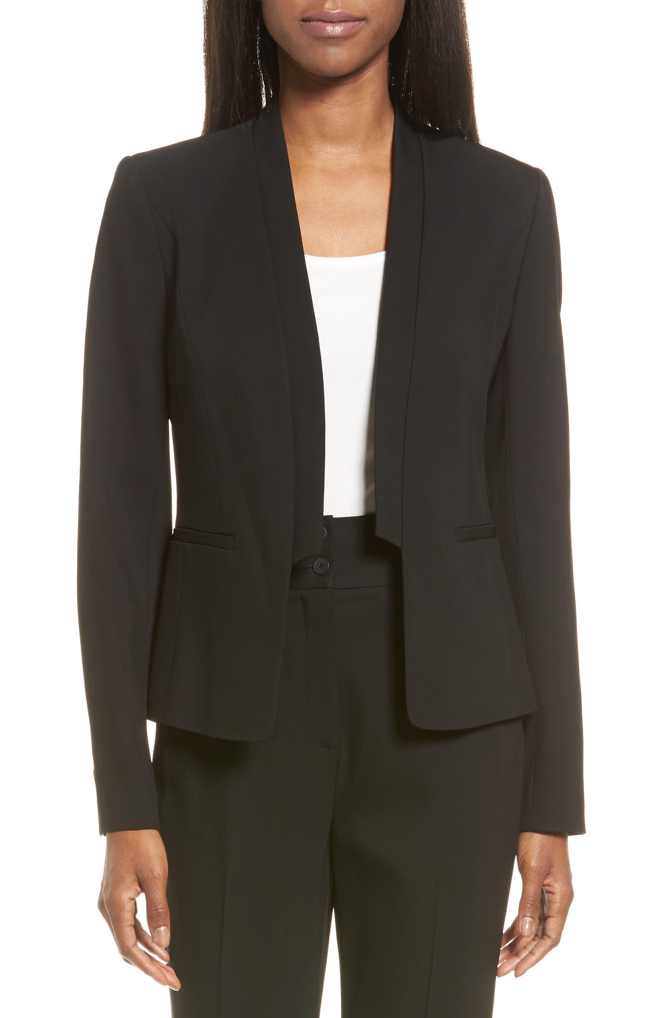 Classiques Entier® Sculpted Collar Suit Jacket