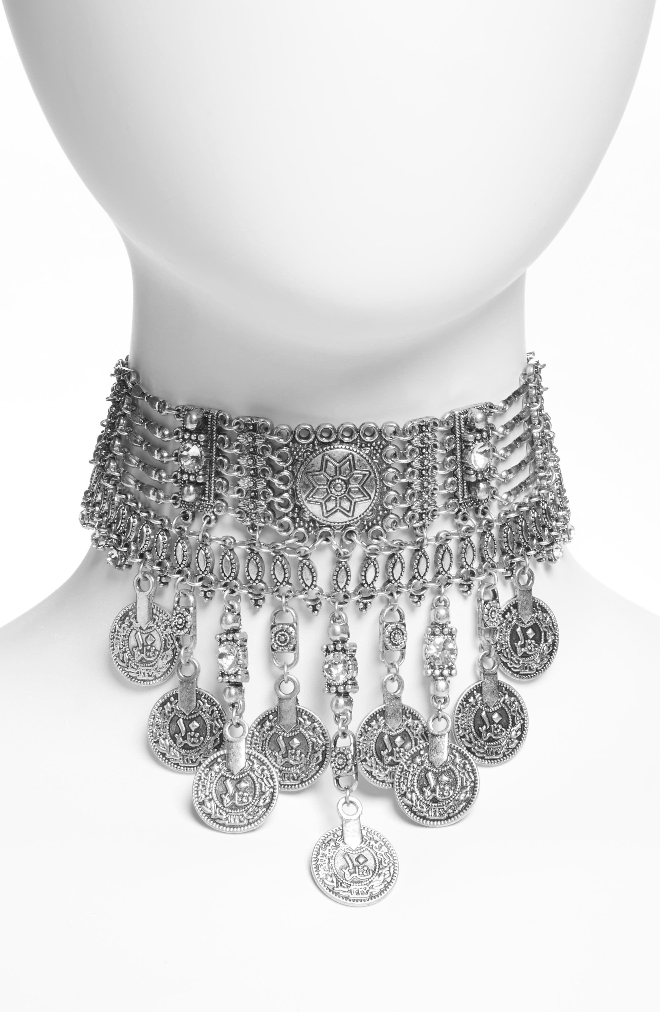 Main Image - Topshop Coin Statement Choker