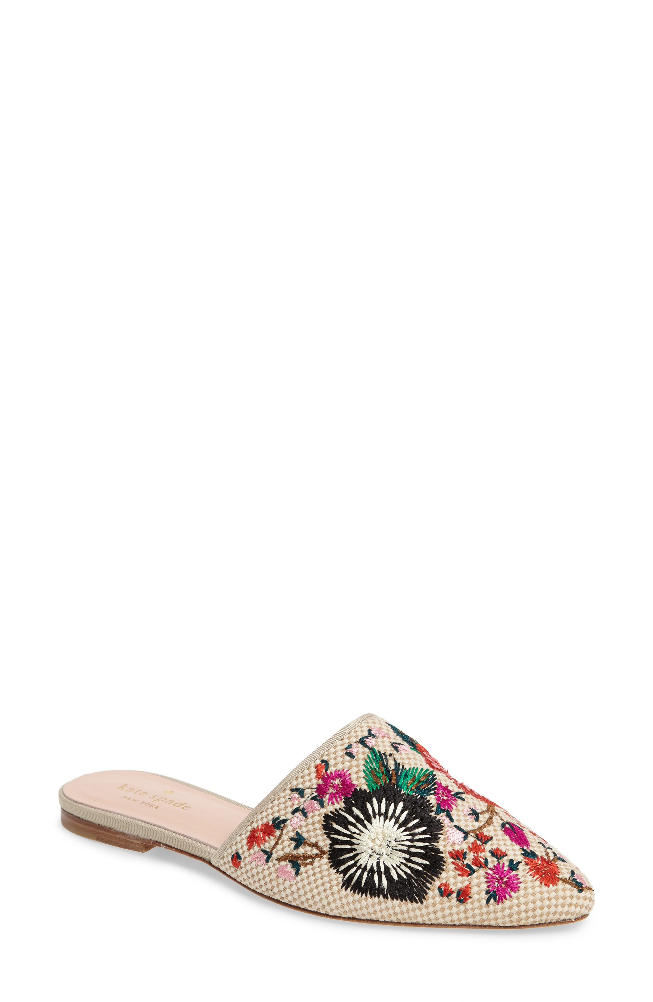 kate spade new york monteclair embroidered mule (Women)