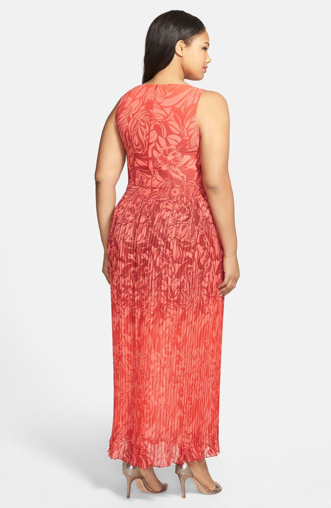 Alternate Image 2  - Gabby Skye Popover Bodice Maxi Dress (Plus)