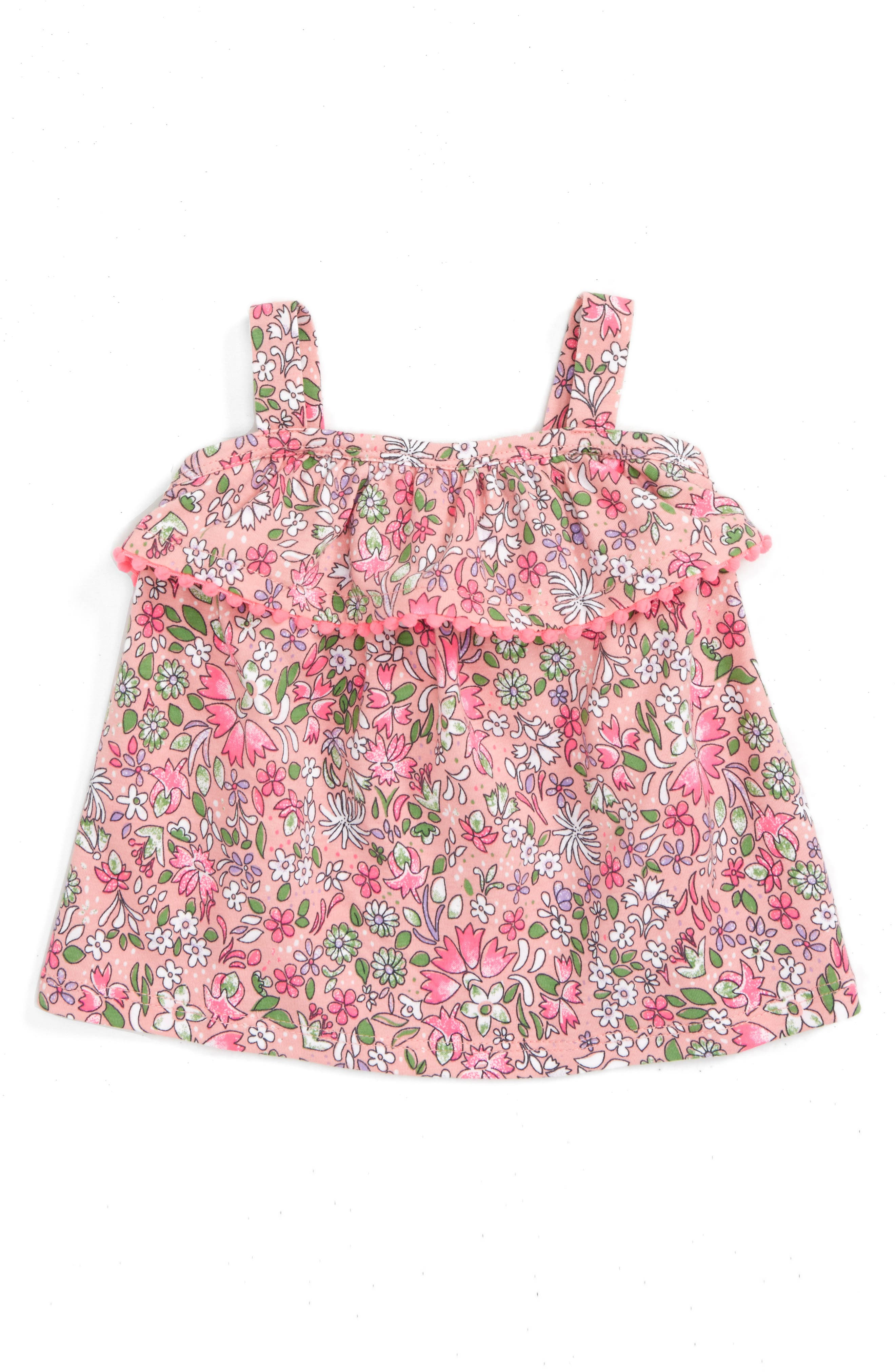 Tucker + Tate Pom Ruffled Tunic (Baby Girls)