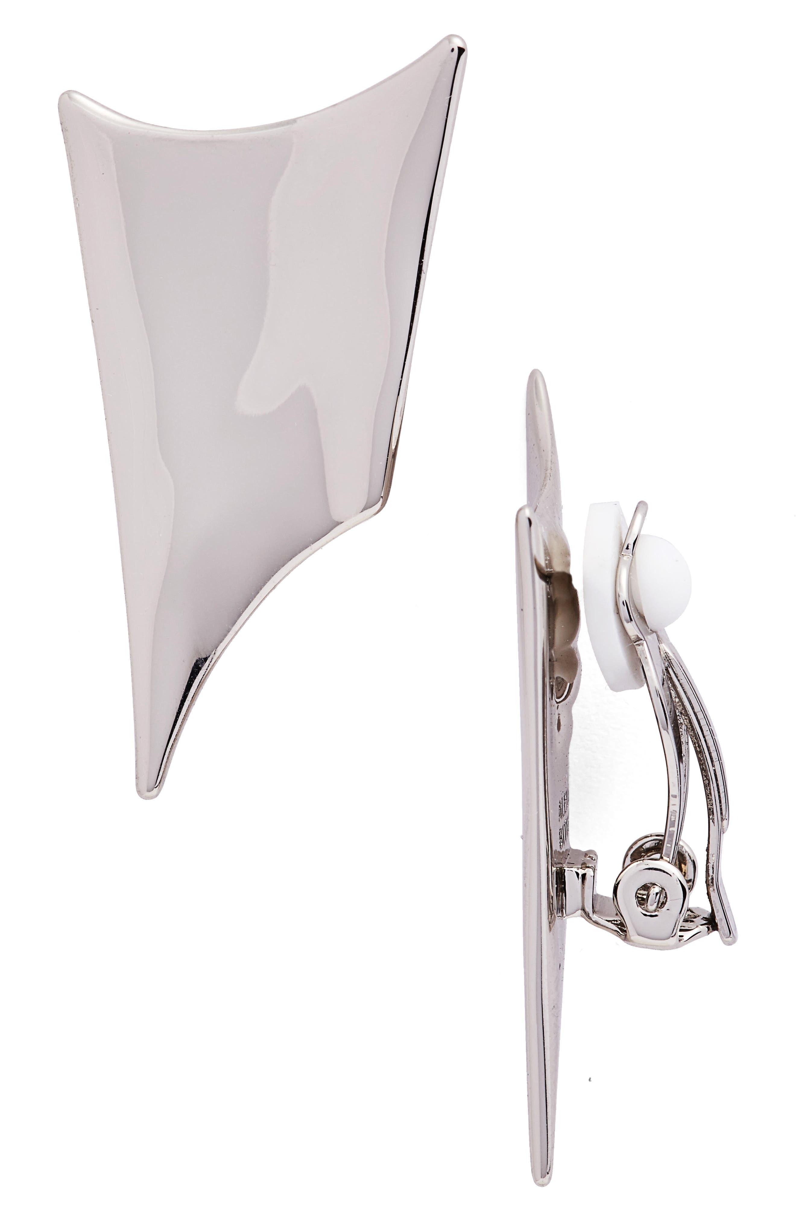 Alexis Bittar Liquid Metal Clip Earrings