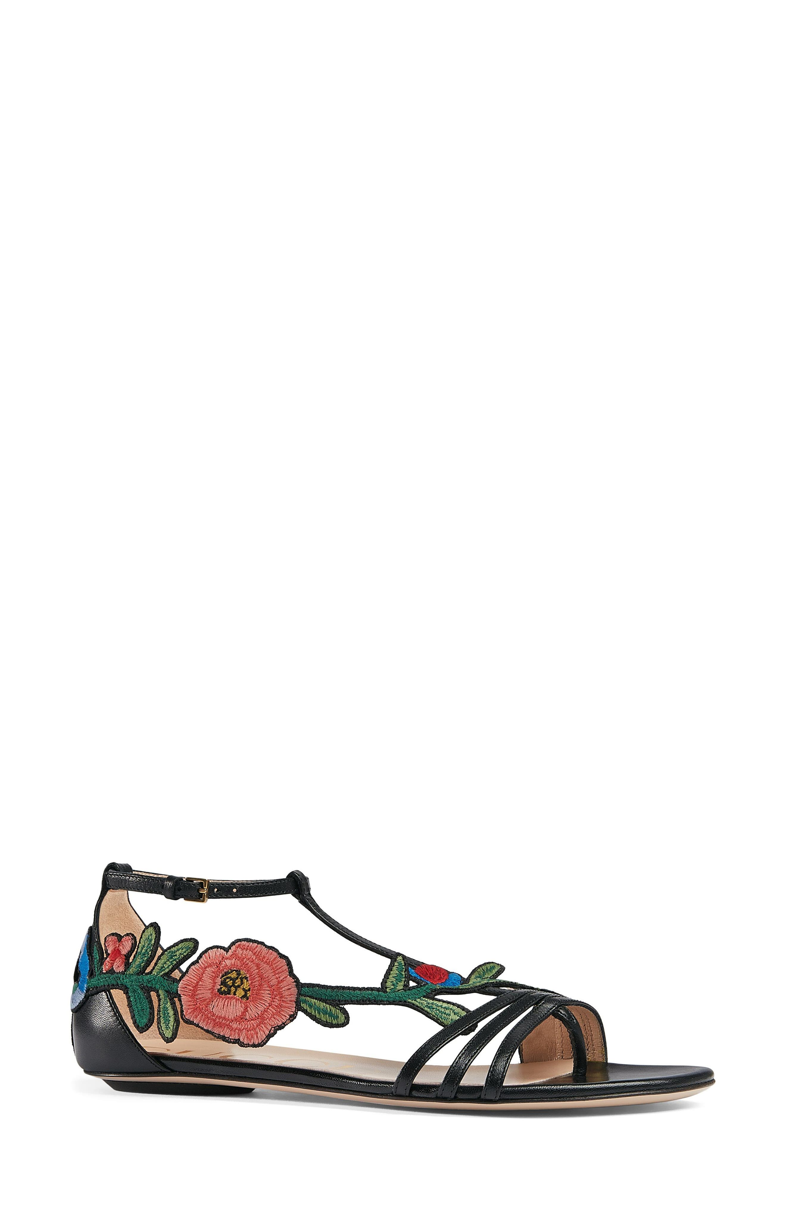 Gucci Ophelia Flower Sandal (Women)