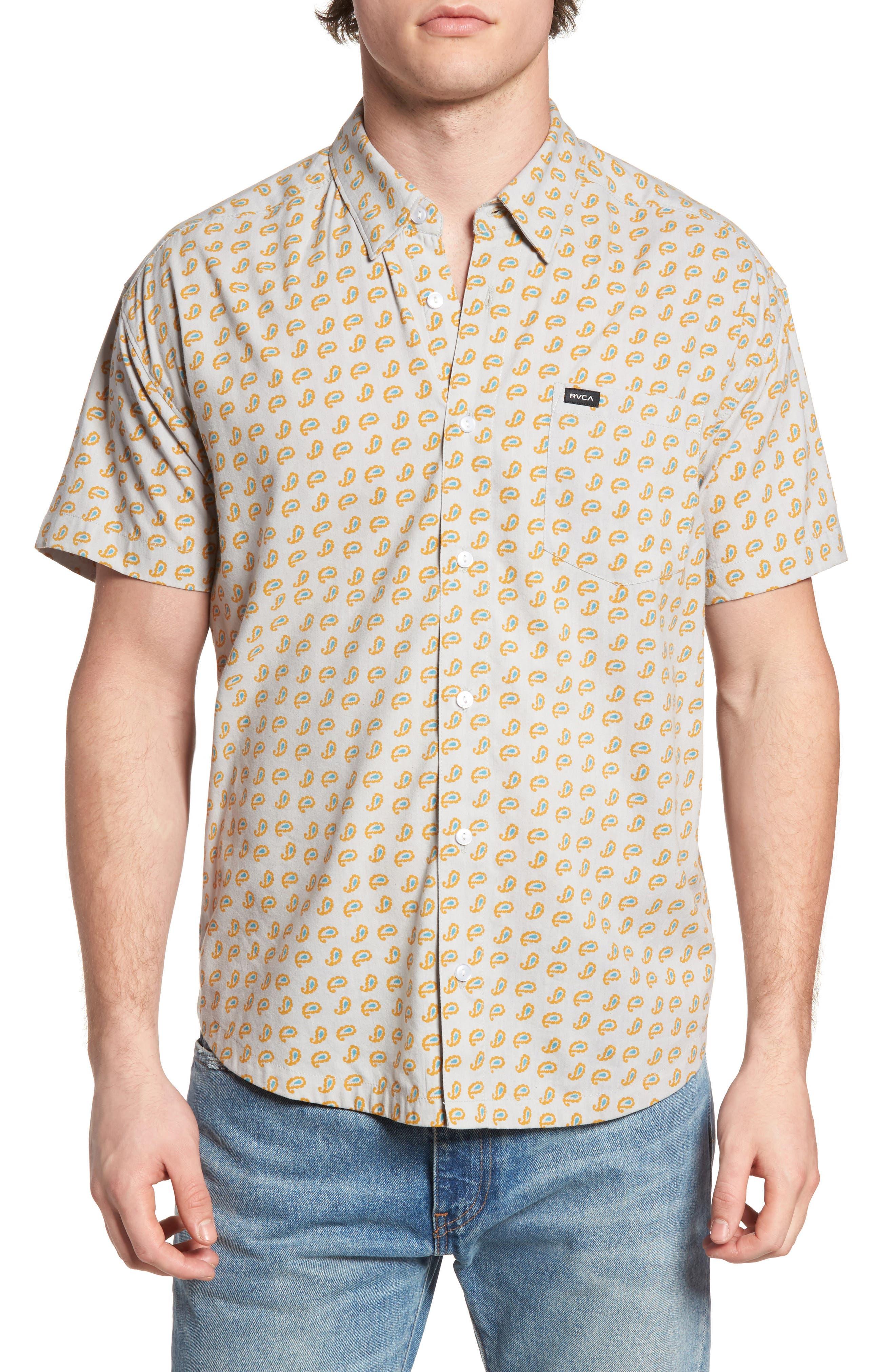RVCA Simon Paisley Woven Shirt