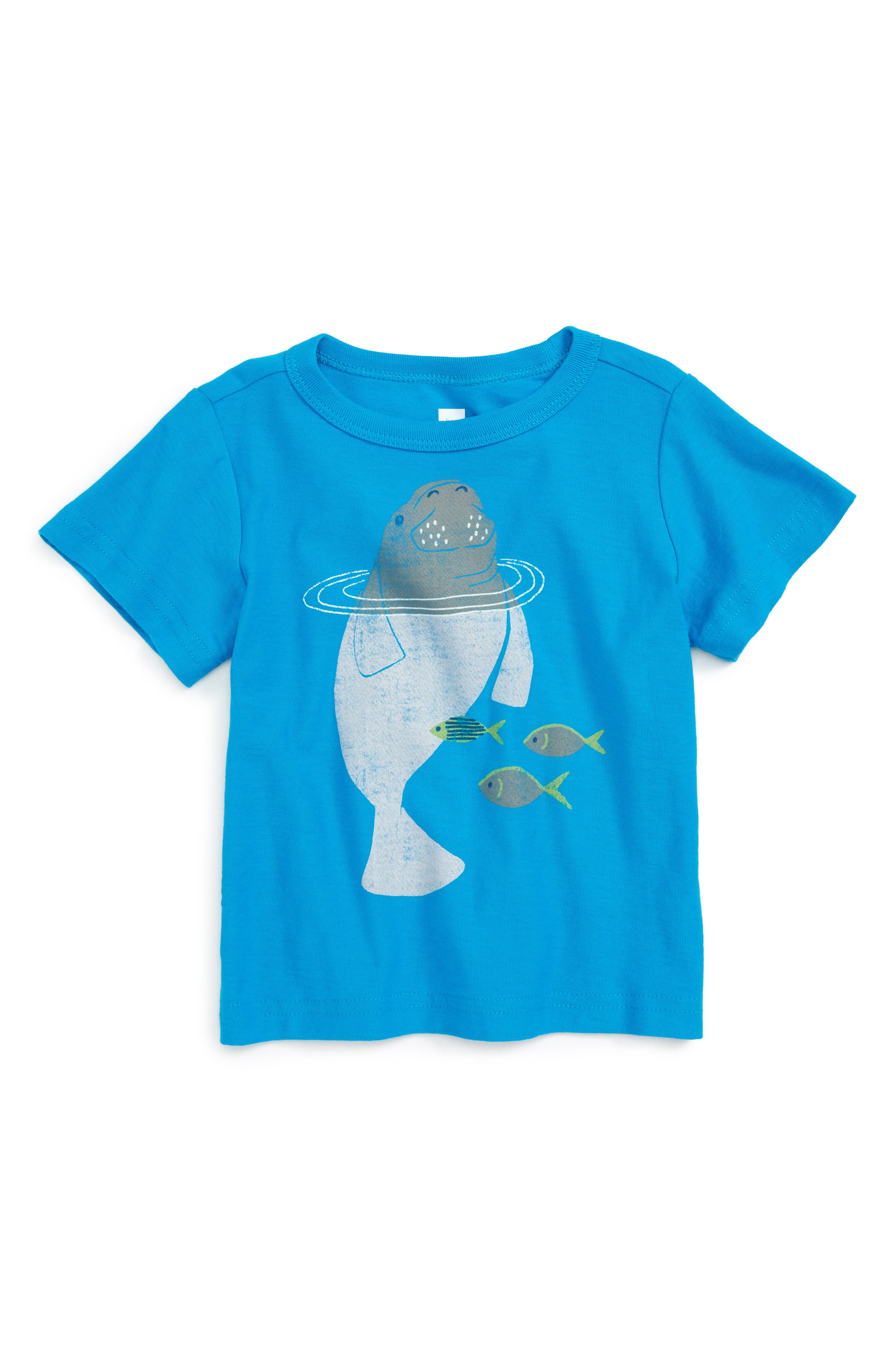 Tea Collection Dugong Graphic T-Shirt (Baby Boys)