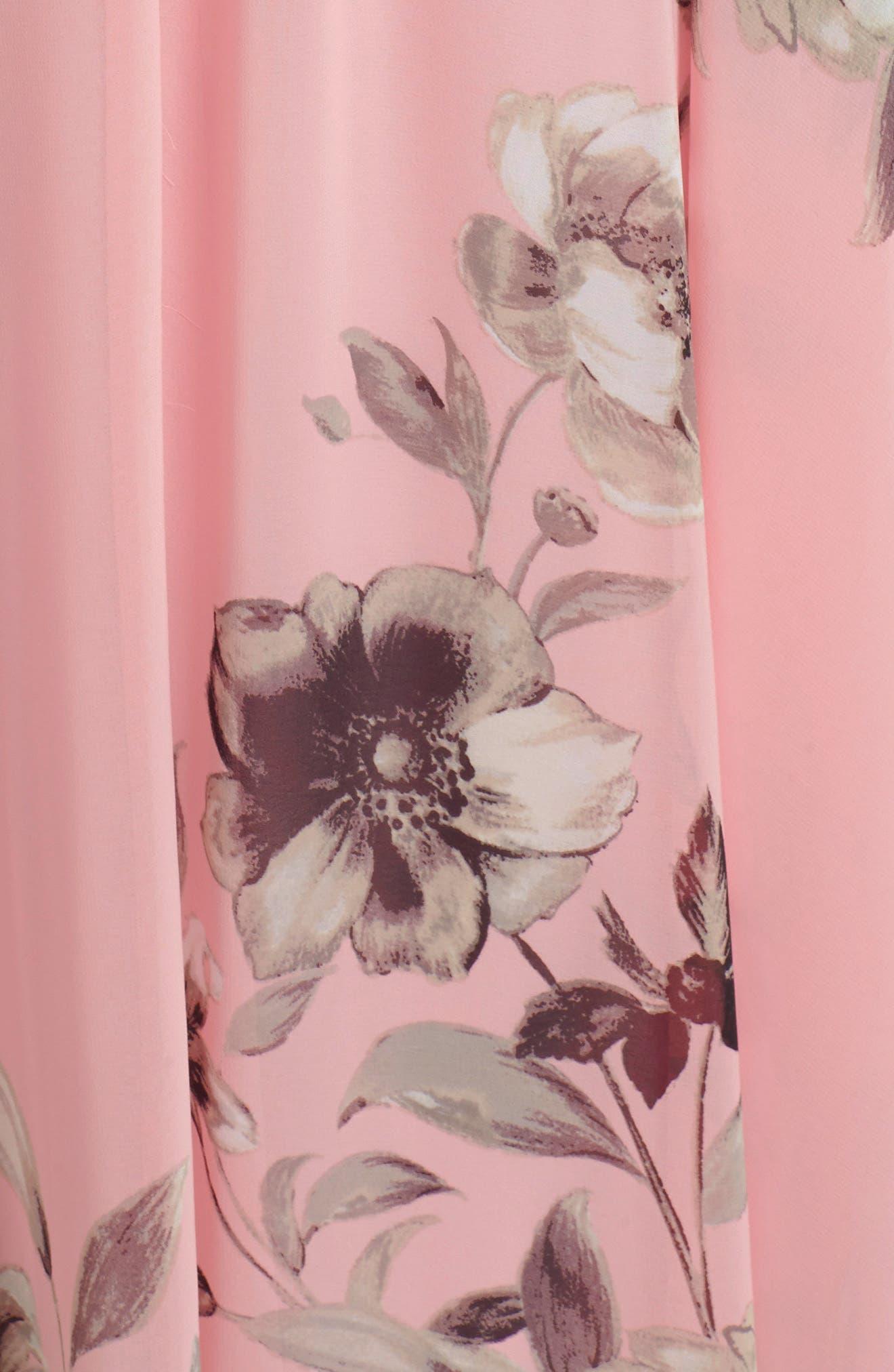 Alternate Image 3  - Eliza J Belted Chiffon Maxi Dress (Regular & Petite)