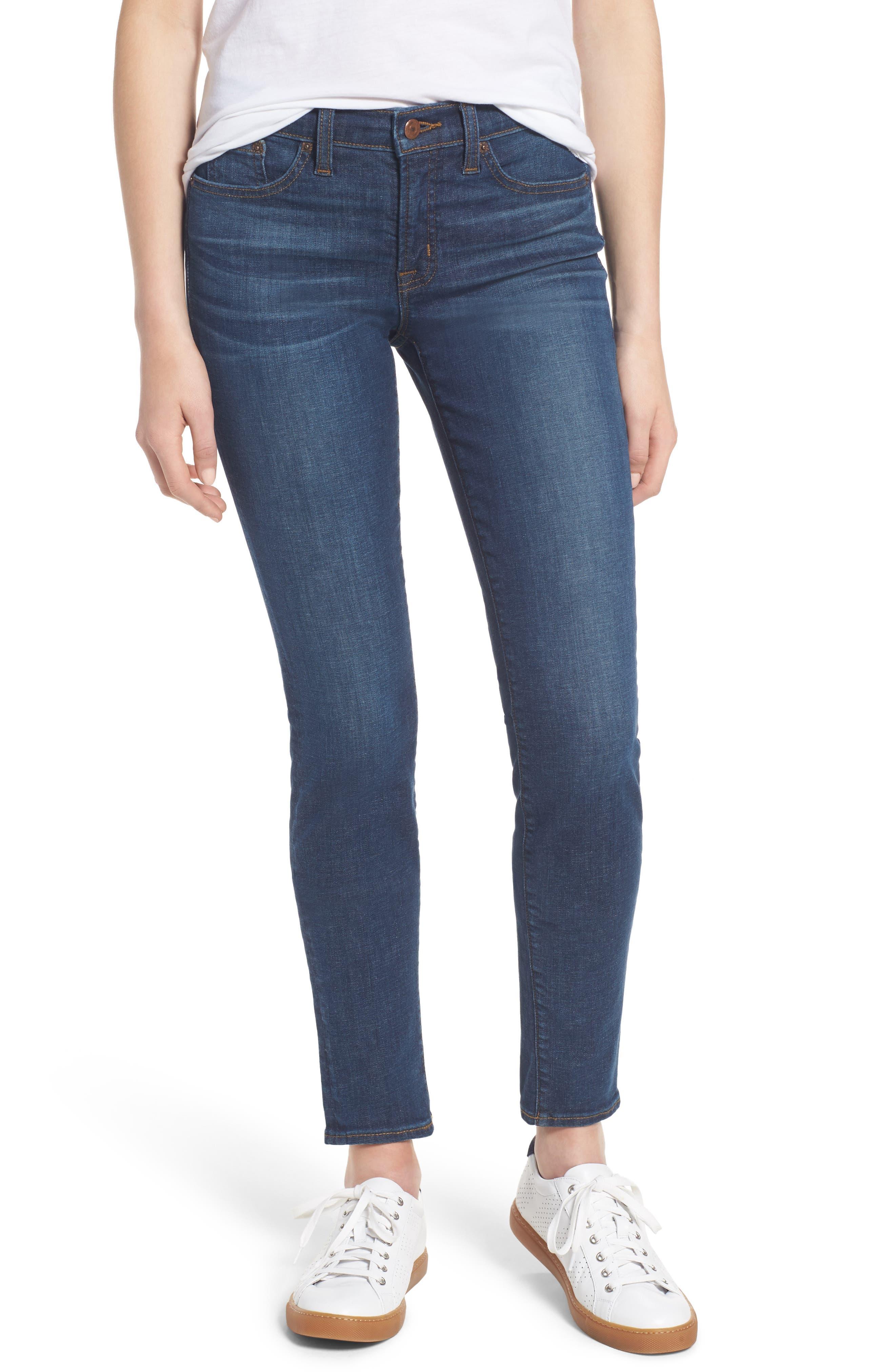 J.Crew Stretch Toothpick Jeans (Medium Miller Wash)