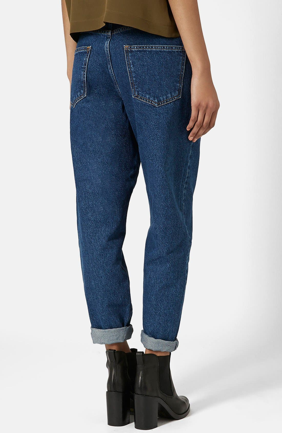 Alternate Image 2  - Topshop Boutique High Rise Slouchy Jeans (Mid Denim)