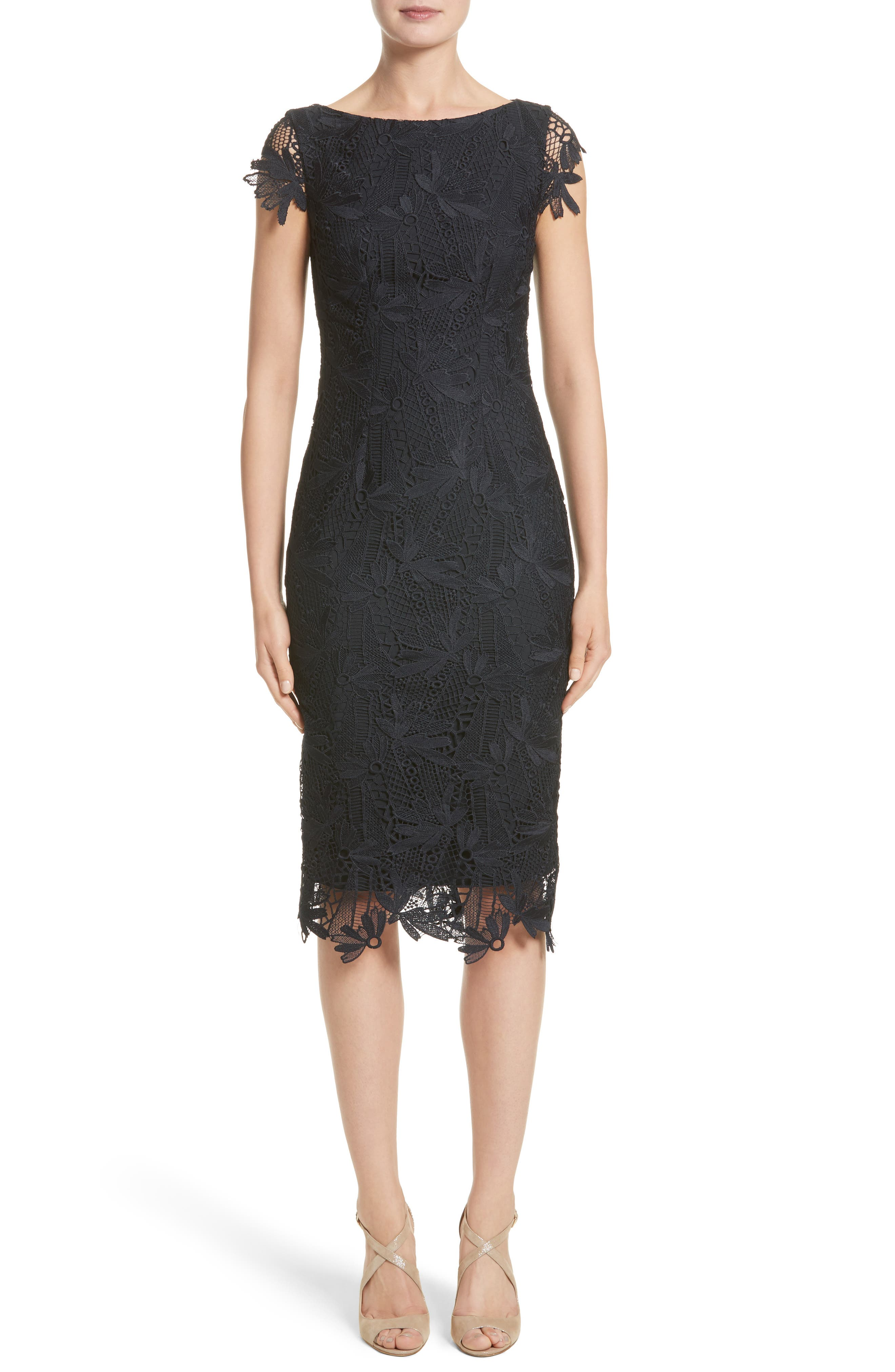 Lela Rose Lace Sheath Dress (Nordstrom Exclusive)