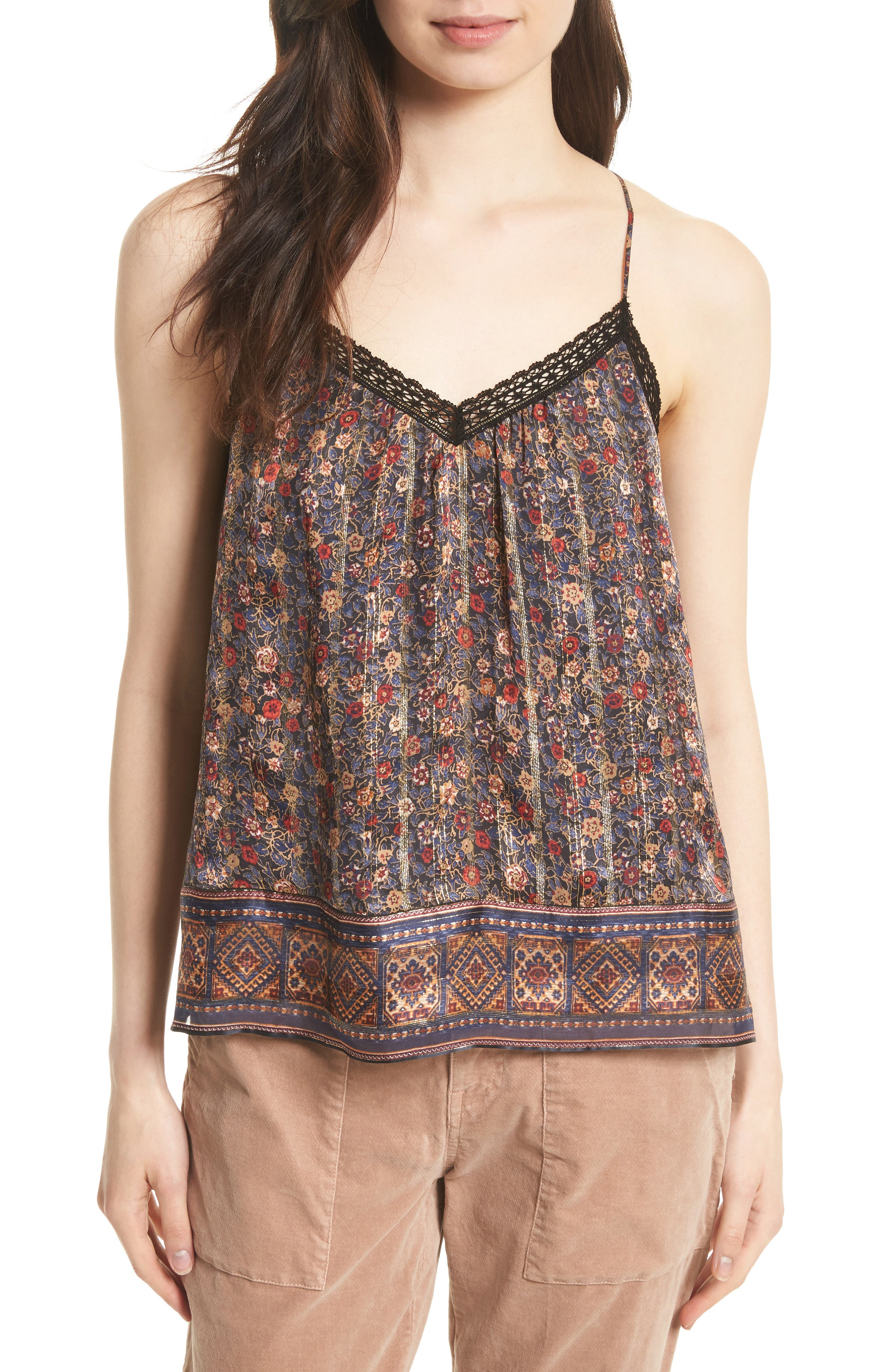 Joie Harriet Floral Silk Tank