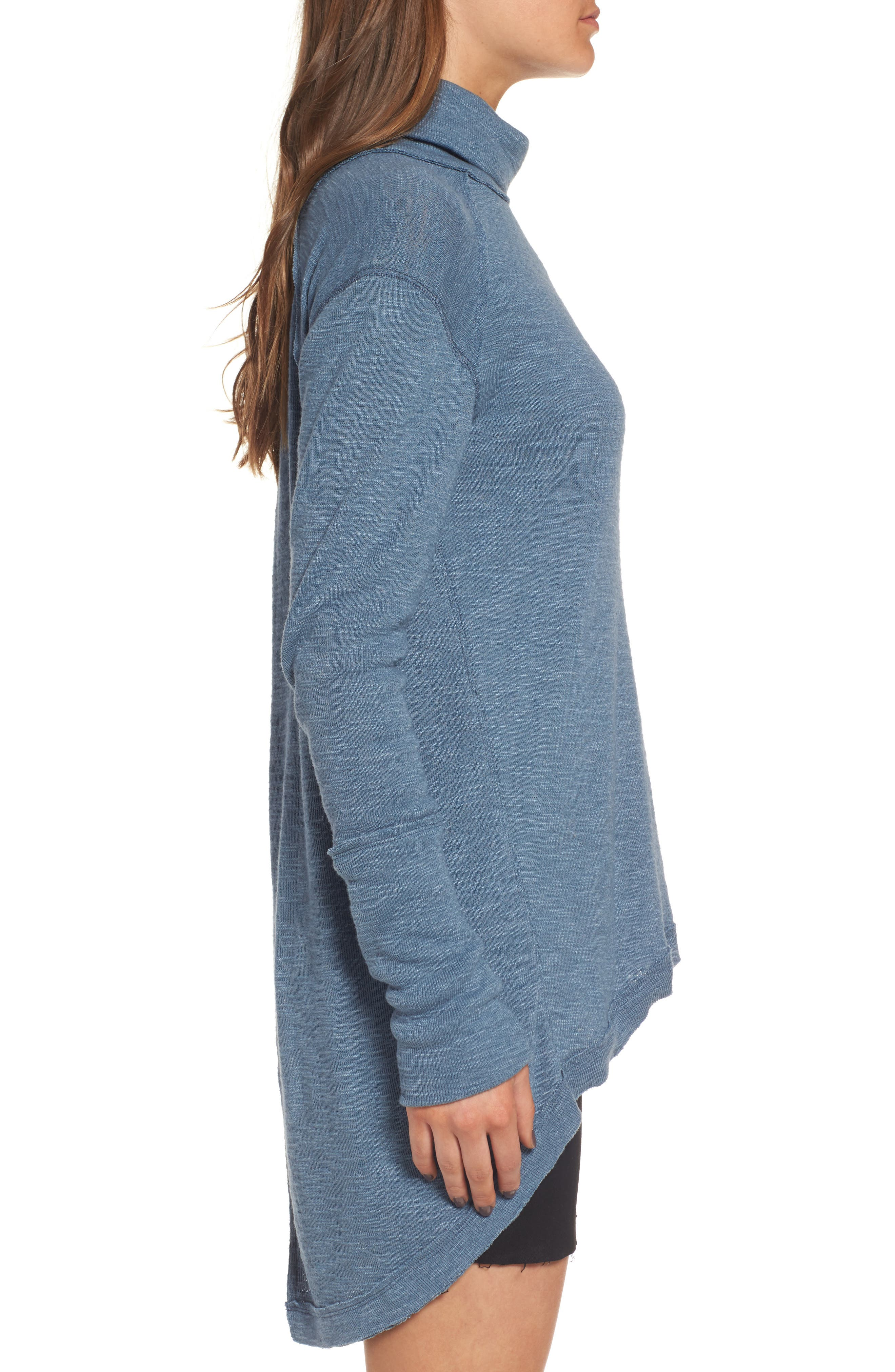 Alternate Image 3  - Free People Split Back Turtleneck